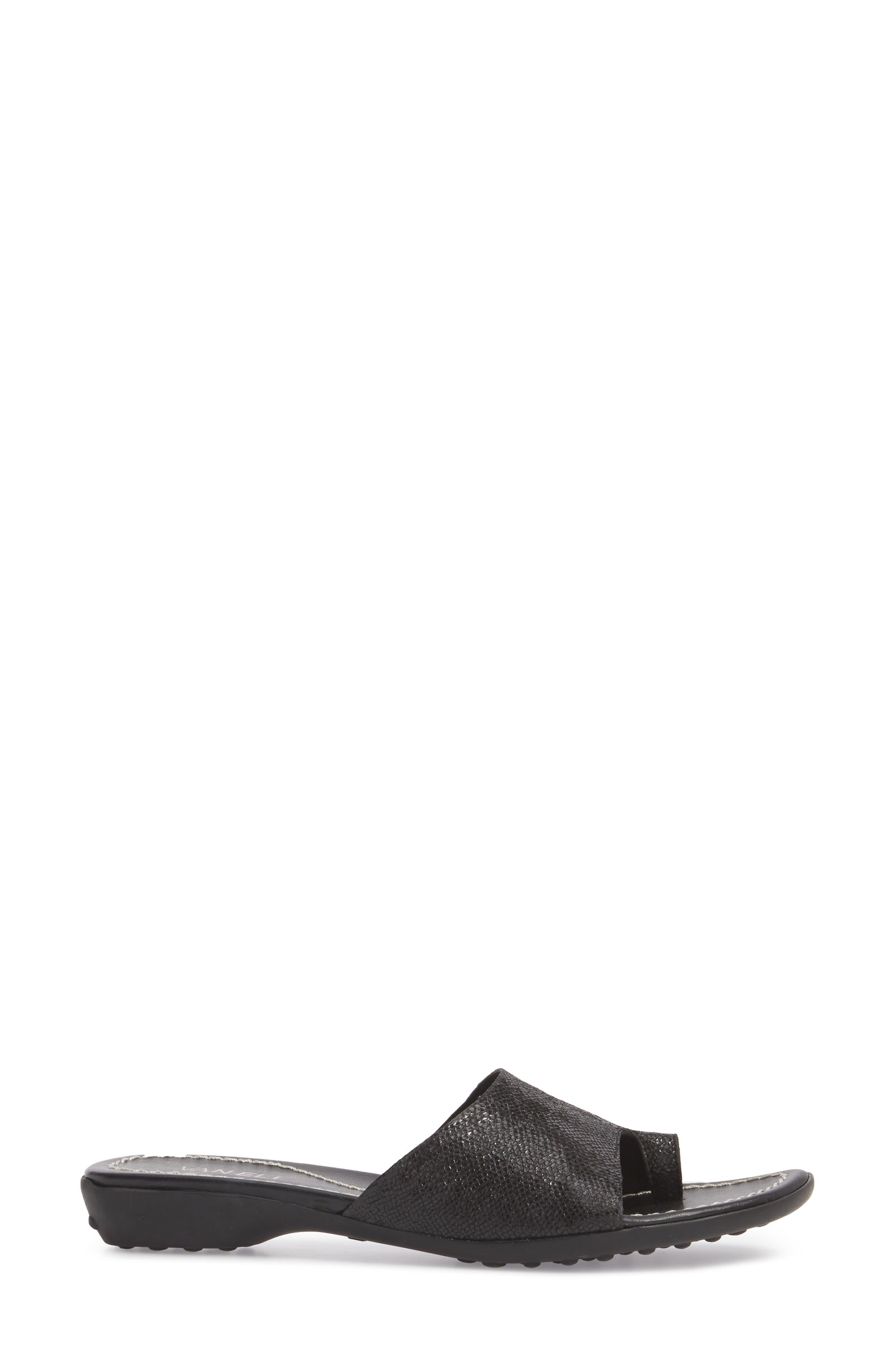 'Tallis' Snake Embossed Leather Slide Sandal,                             Alternate thumbnail 14, color,