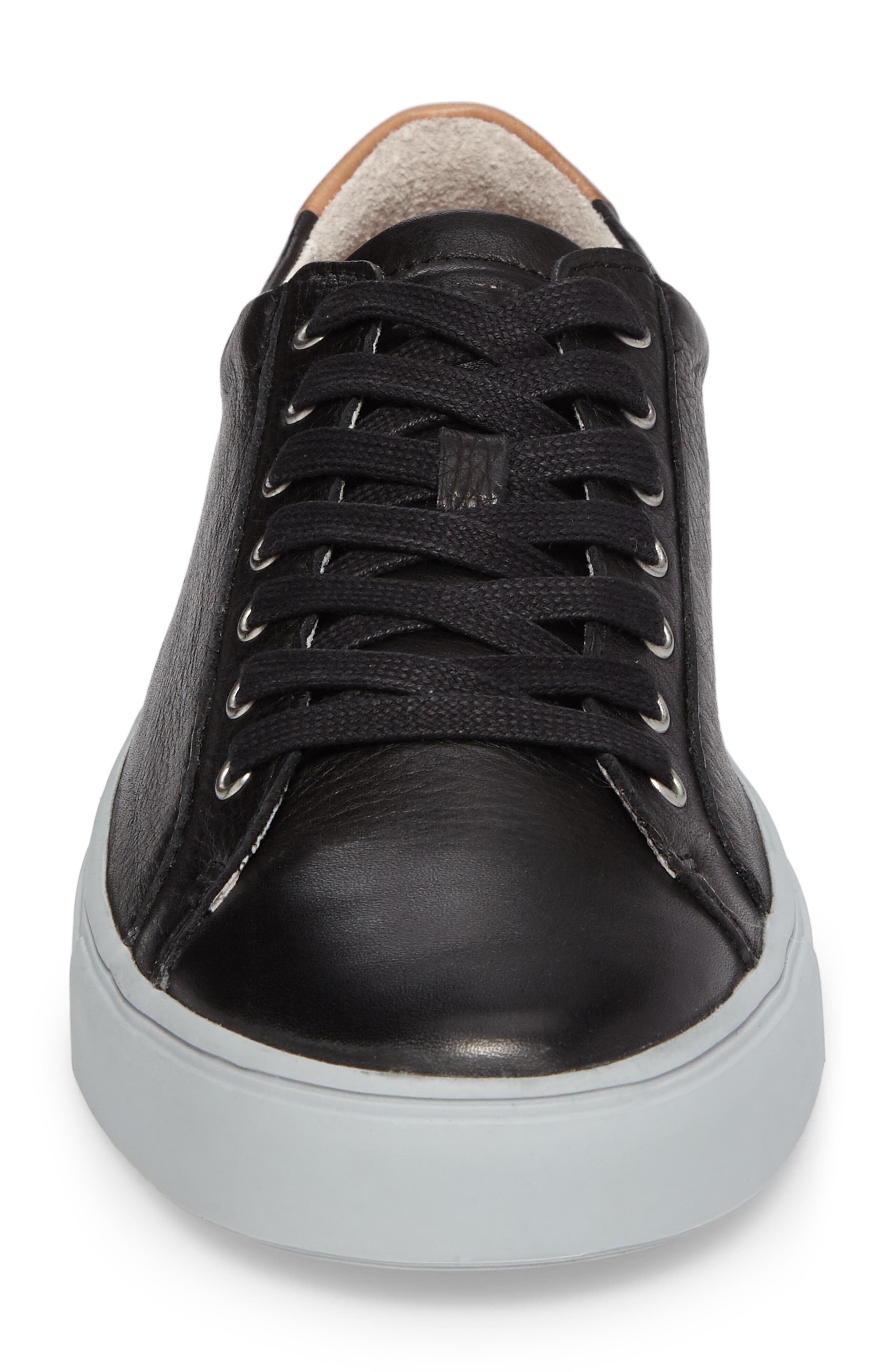 NM01 7 Eyelet Sneaker,                             Alternate thumbnail 4, color,                             BLACK LEATHER