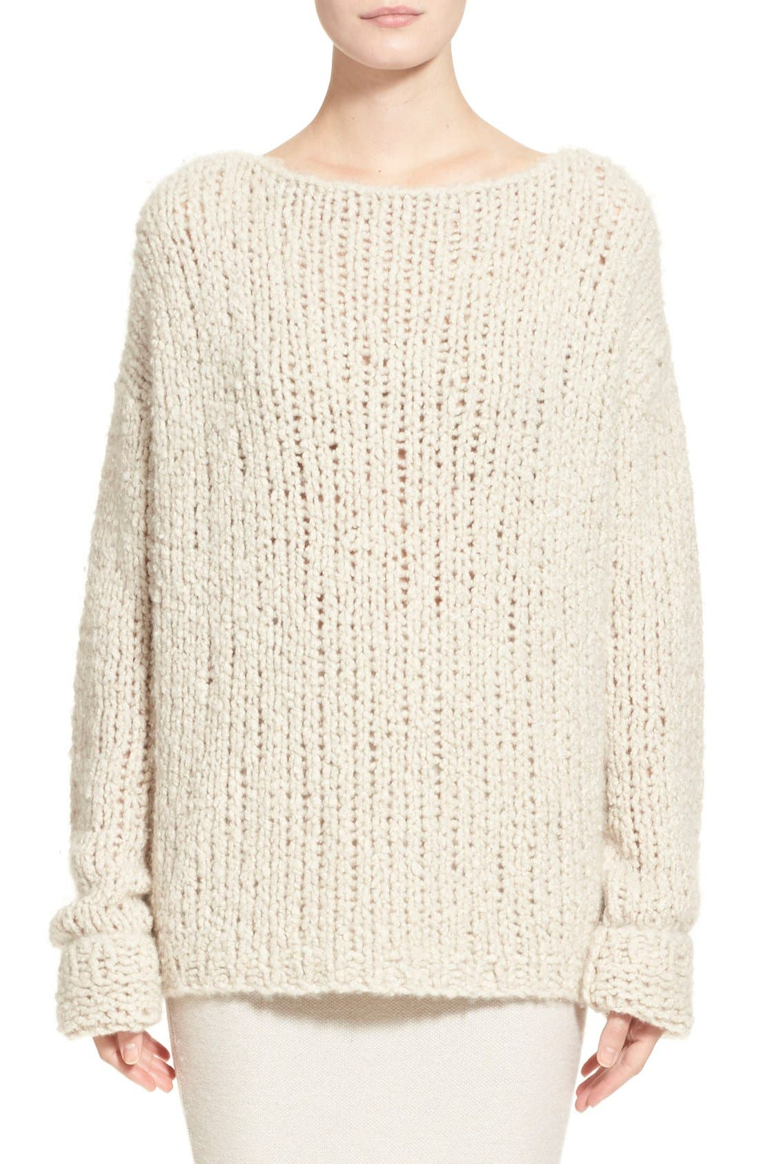 Donna KaranCollection Hand Knit Cashmere Sweater, Main, color, 282