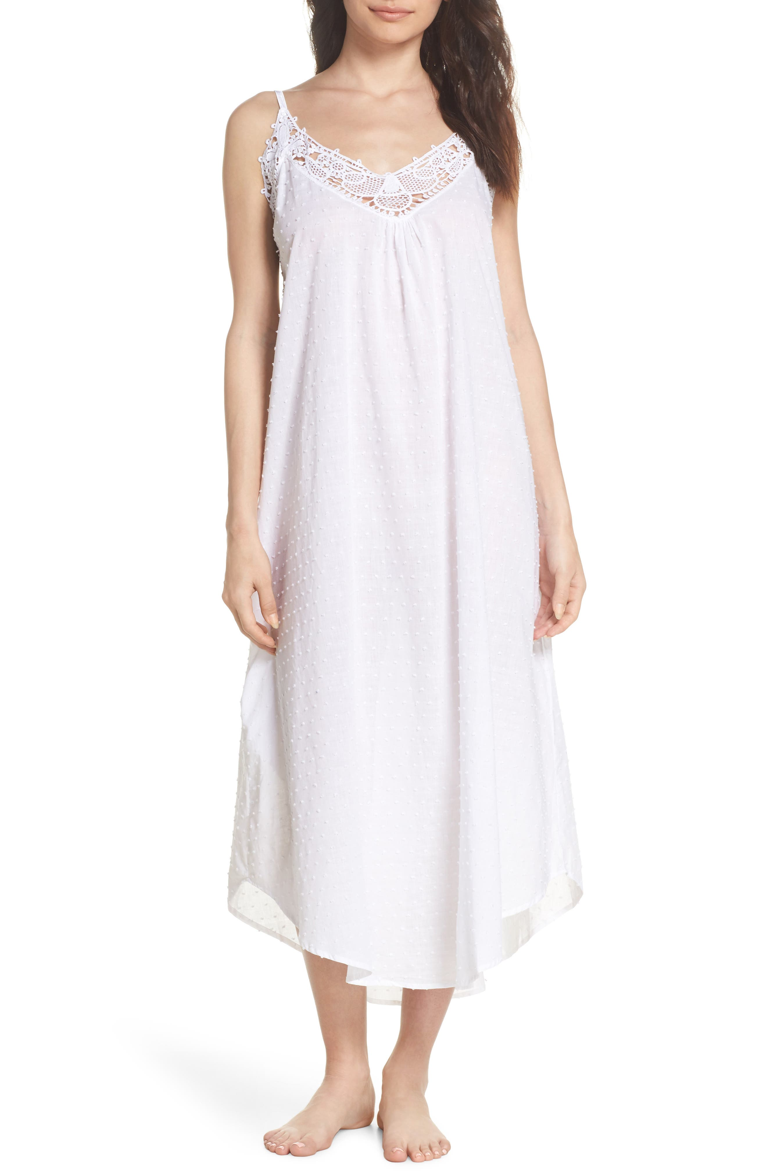 Swiss Dot Nightgown,                         Main,                         color,