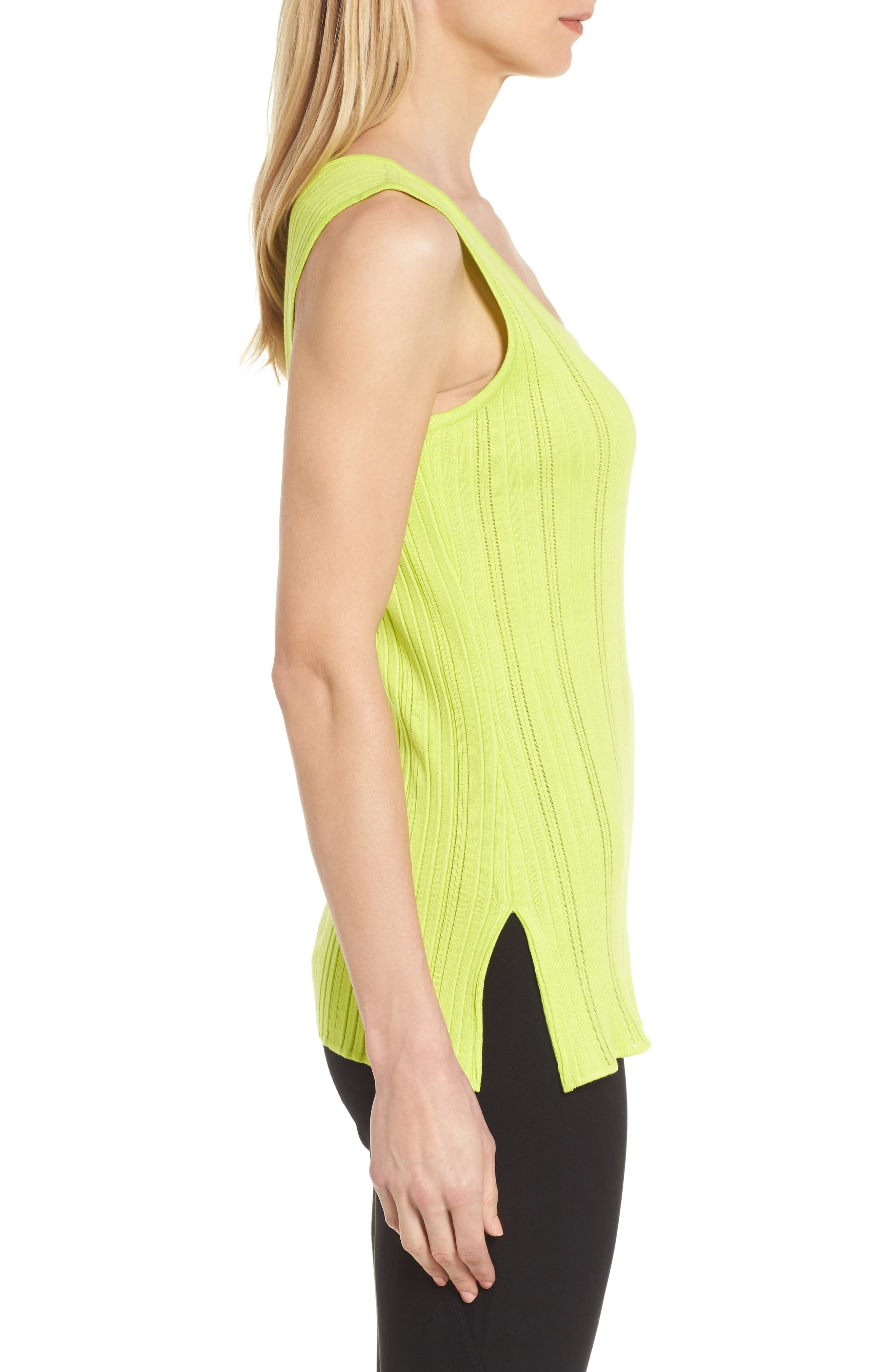 Scoop Neck Ribbed Knit Tank,                             Alternate thumbnail 3, color,                             321