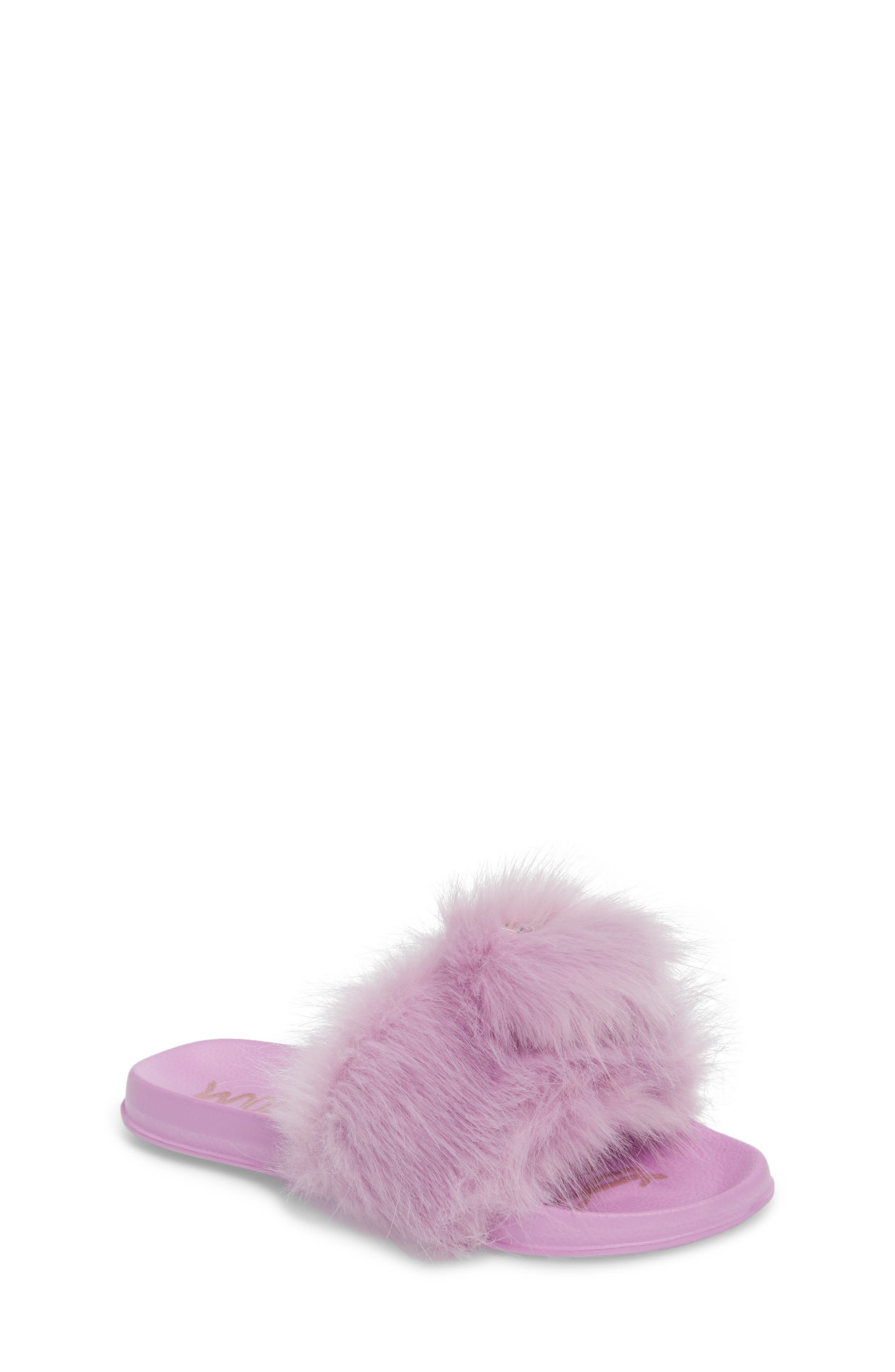 Mackie Aster Faux Fur Slide Sandal,                             Main thumbnail 1, color,                             510