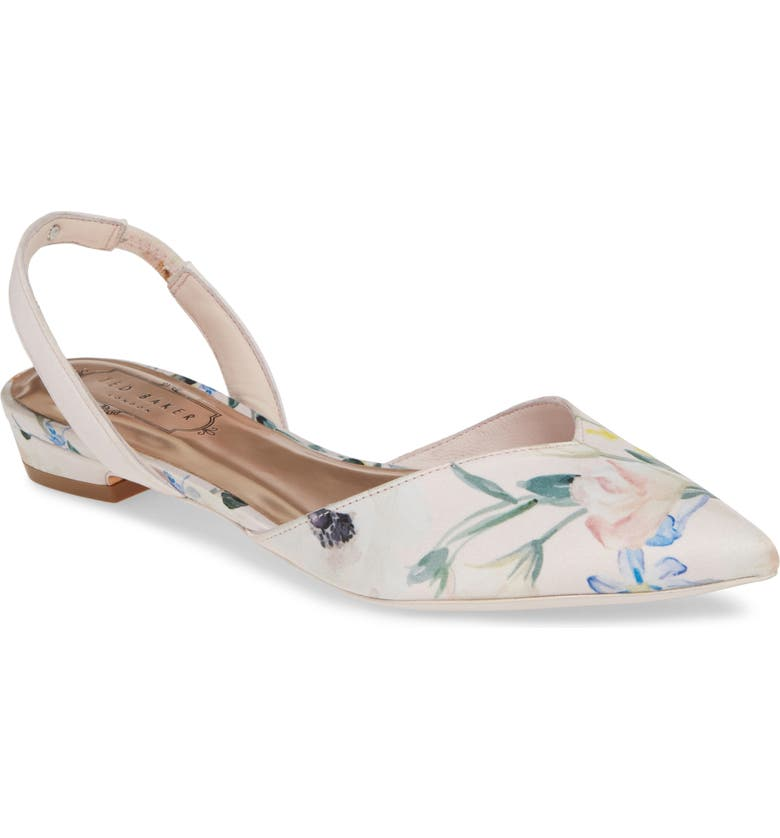 TED BAKER LONDON Primlap Flat, Main, color, ELEGANT PINK SATIN