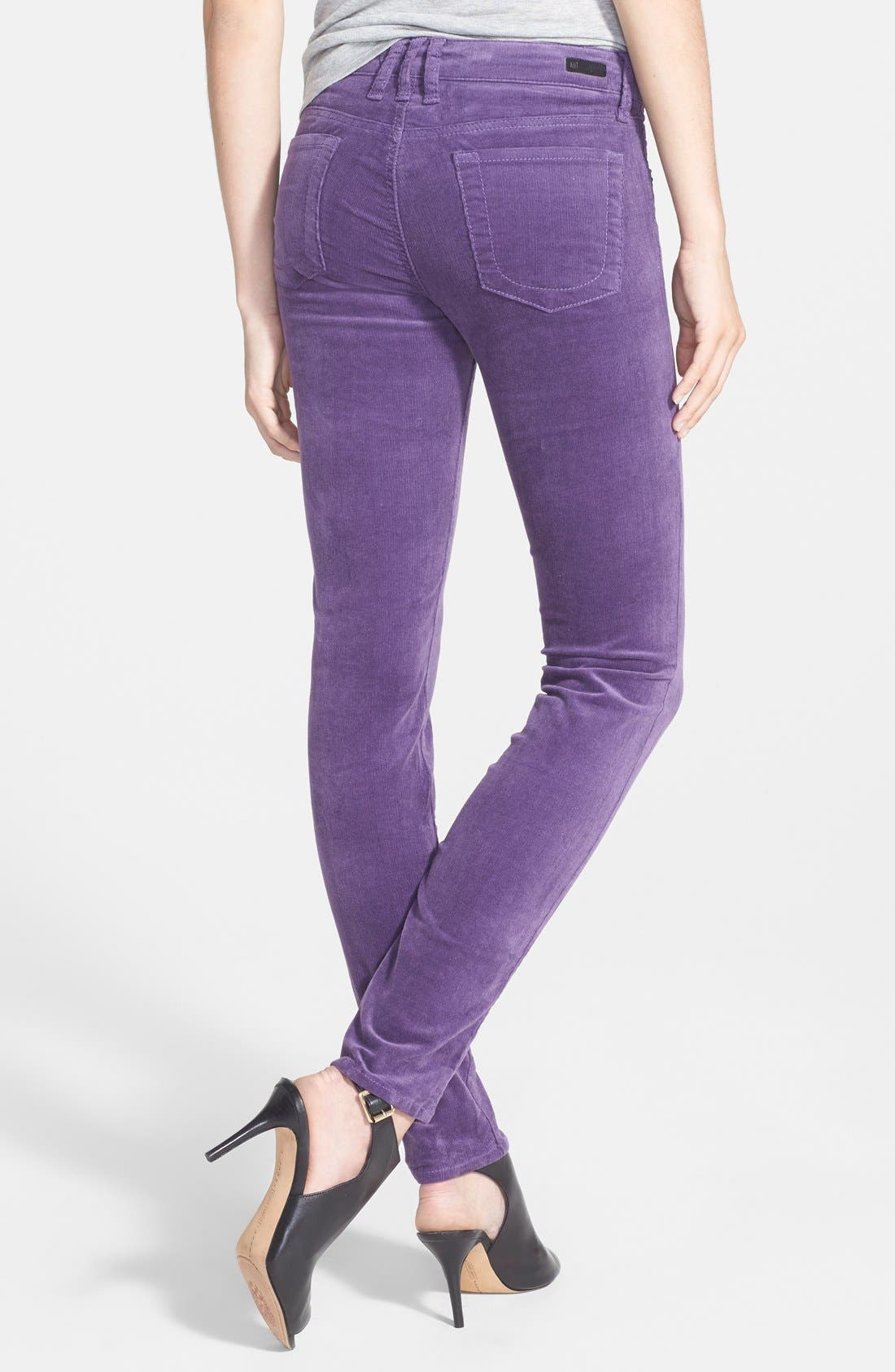 'Diana' Stretch Corduroy Skinny Pants,                             Alternate thumbnail 90, color,