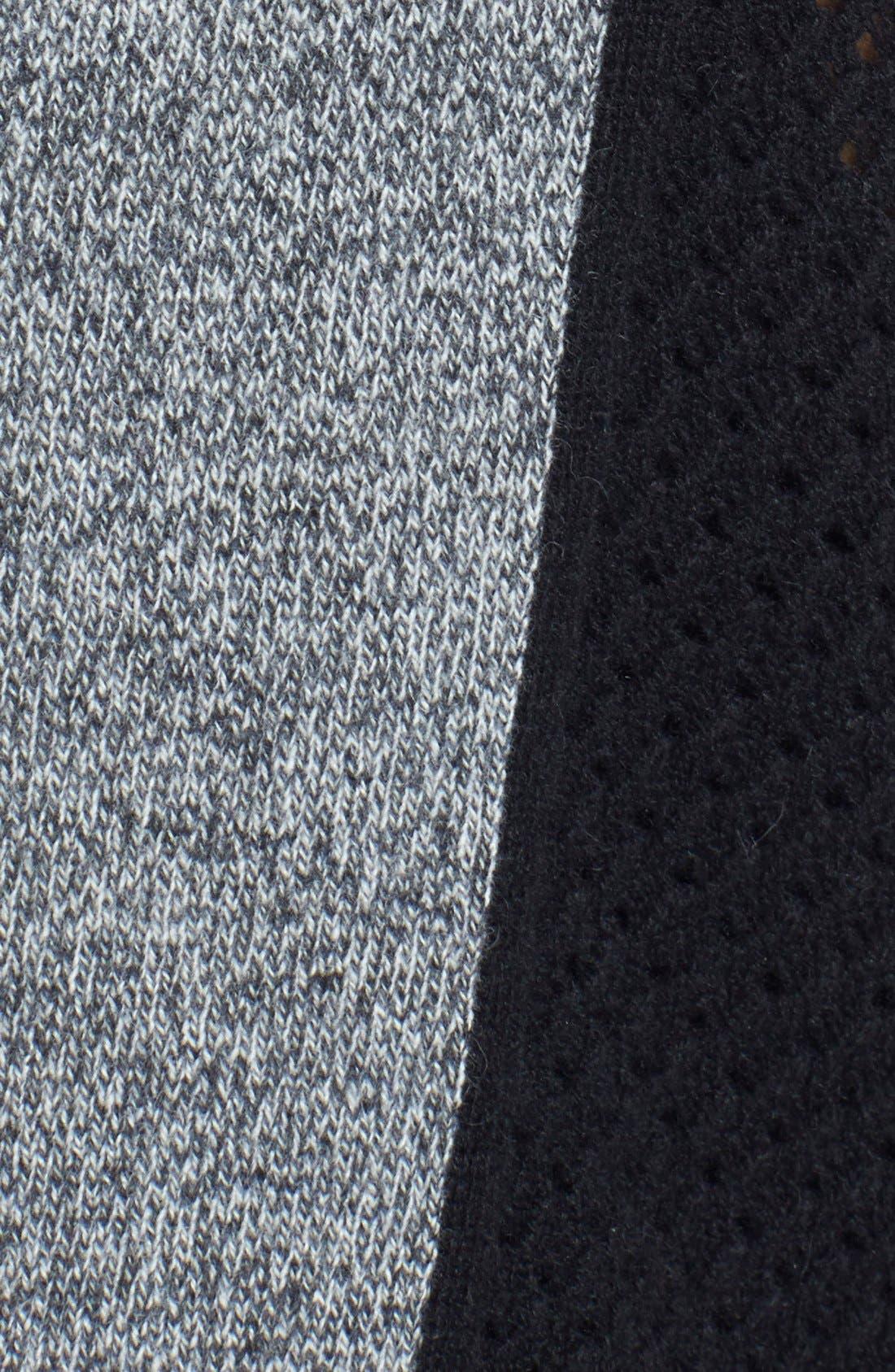 Colorblock Pointelle Cashmere Sweater,                             Alternate thumbnail 2, color,                             021