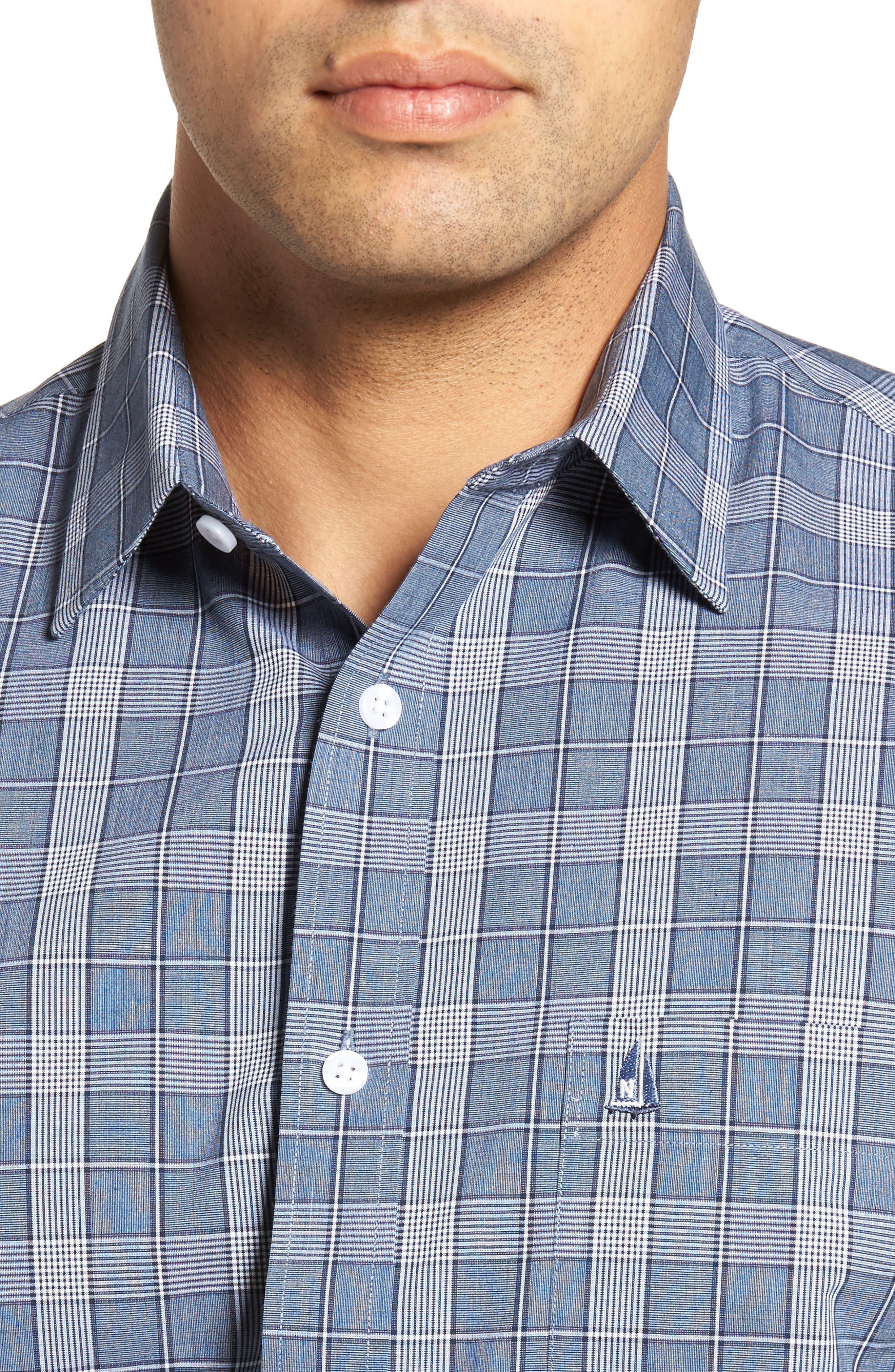 Smartcare<sup>™</sup> Regular Fit Plaid Sport Shirt,                             Alternate thumbnail 27, color,