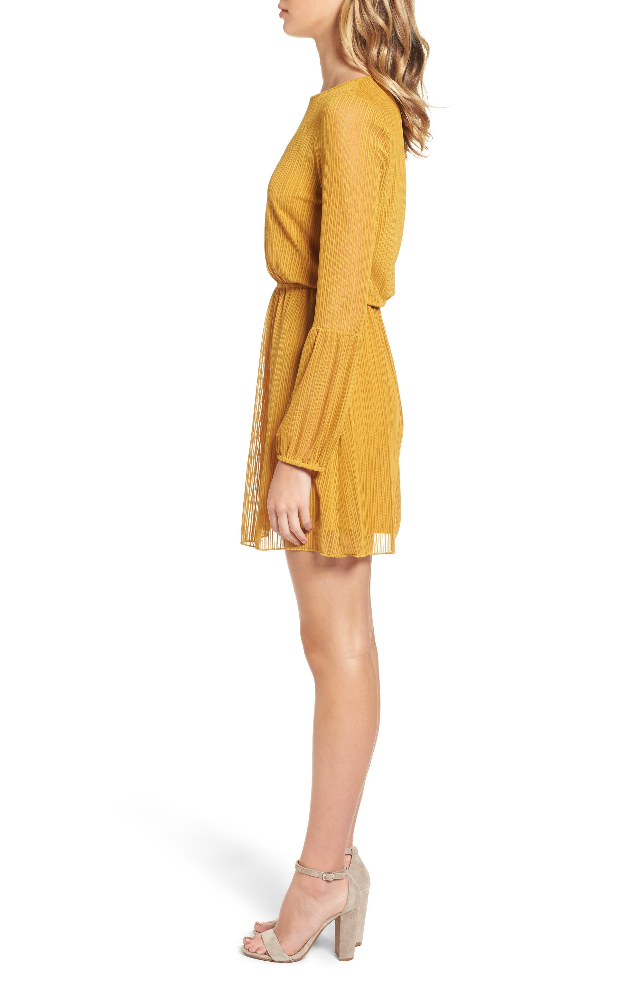 Blouson Dress,                             Alternate thumbnail 3, color,