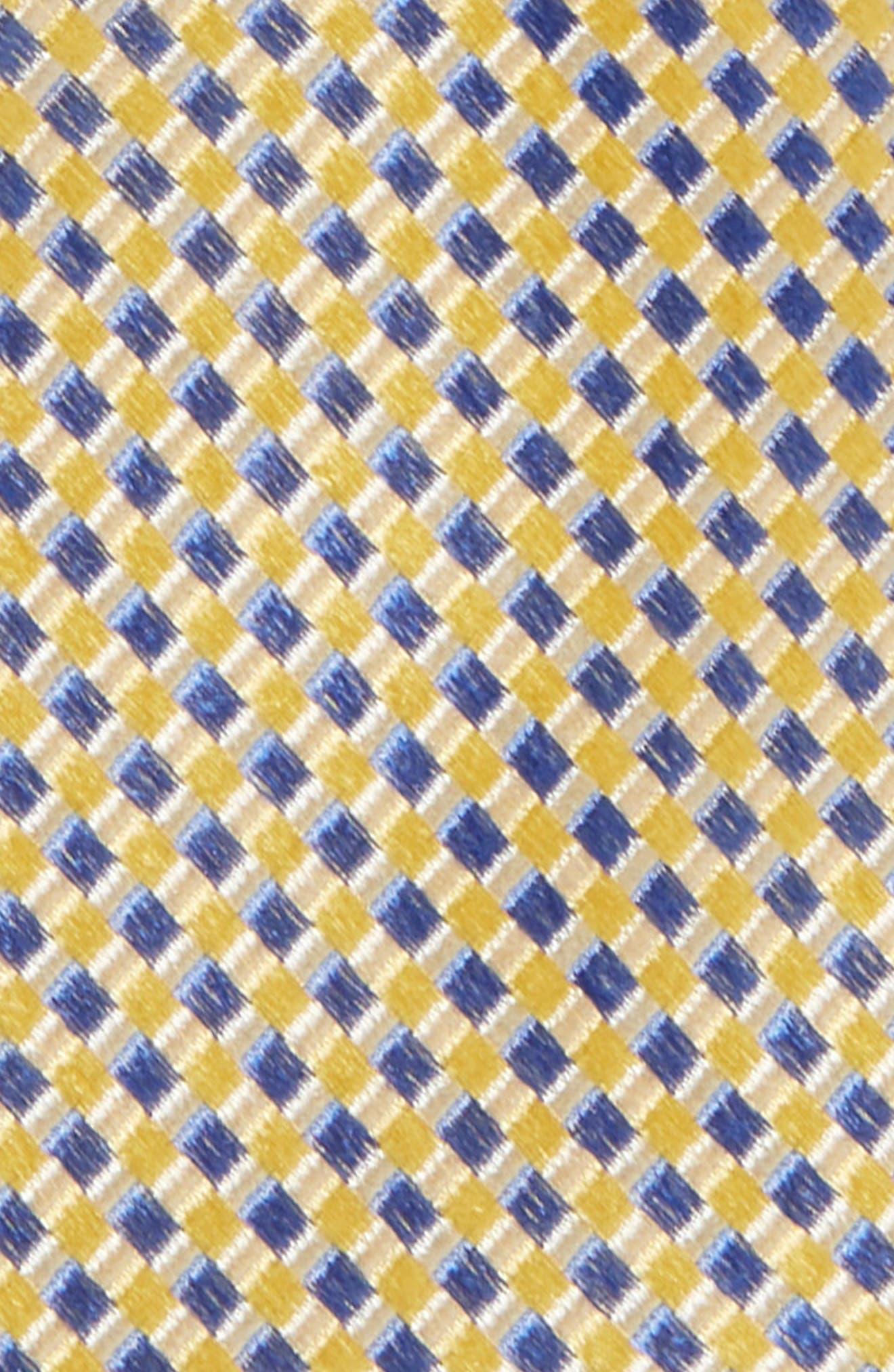 MICHAEL KORS,                             Check Silk Tie,                             Alternate thumbnail 2, color,                             YELLOW