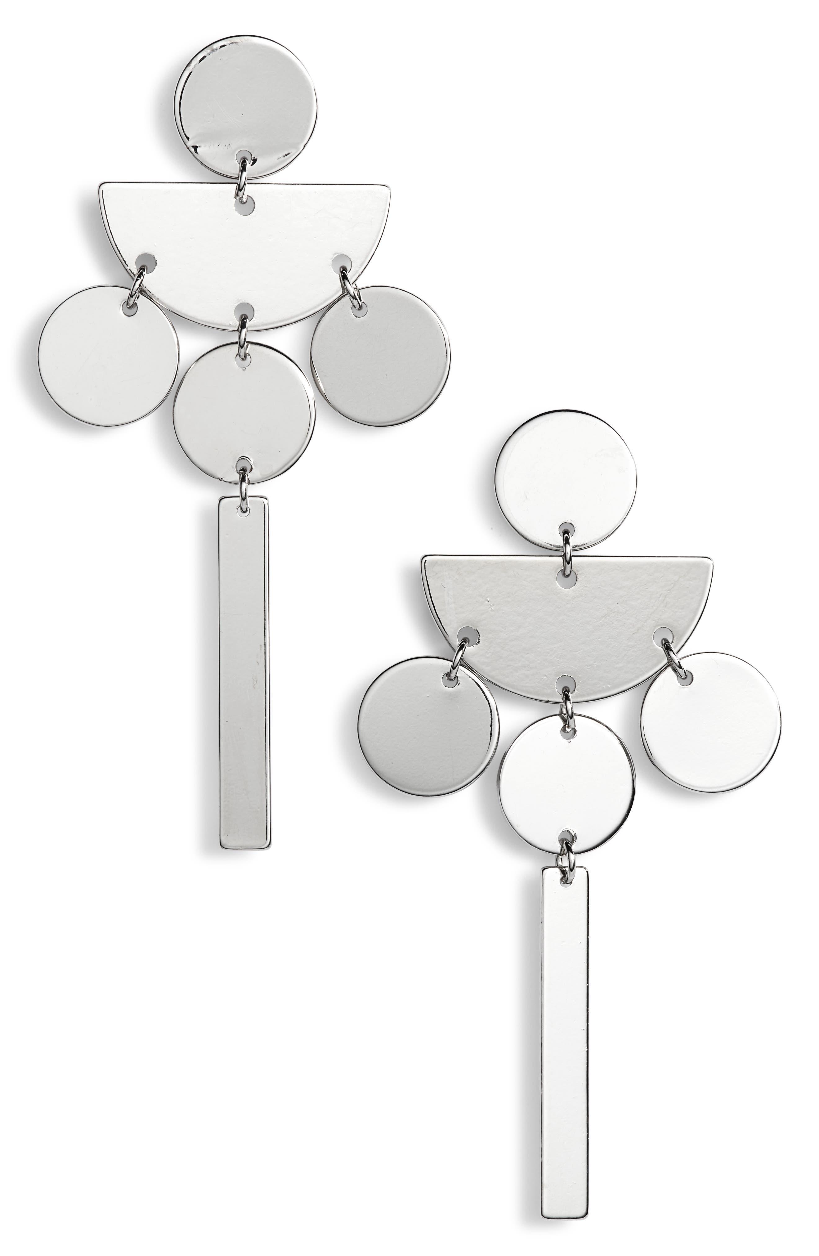 TASHA Geometric Drop Earrings, Main, color, 040