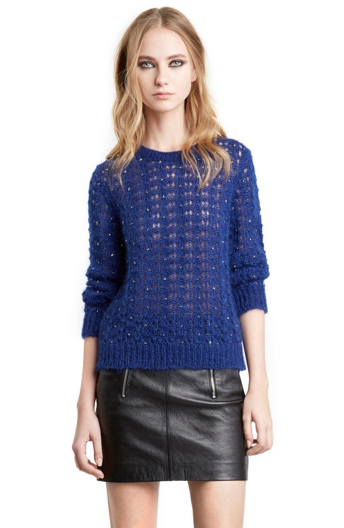 SAINT LAURENT,                             Mohair Sweater,                             Alternate thumbnail 2, color,                             403
