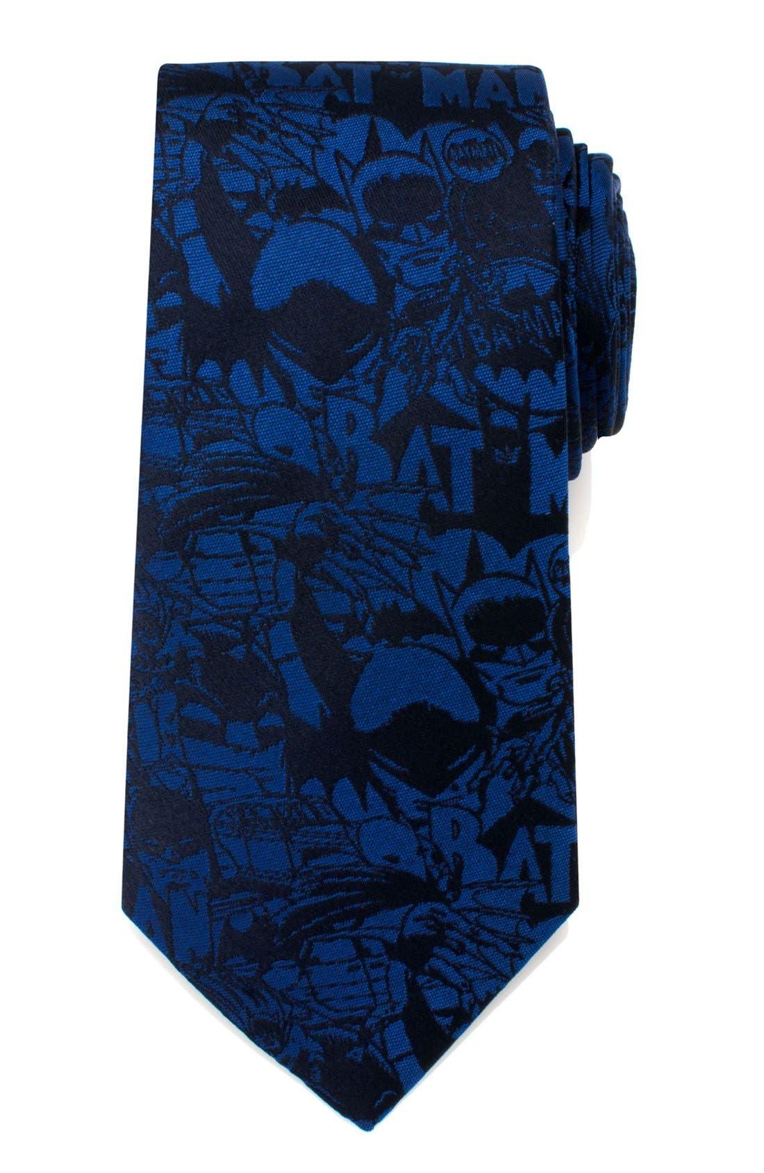 'Batman' Silk Tie,                             Main thumbnail 1, color,                             BLUE