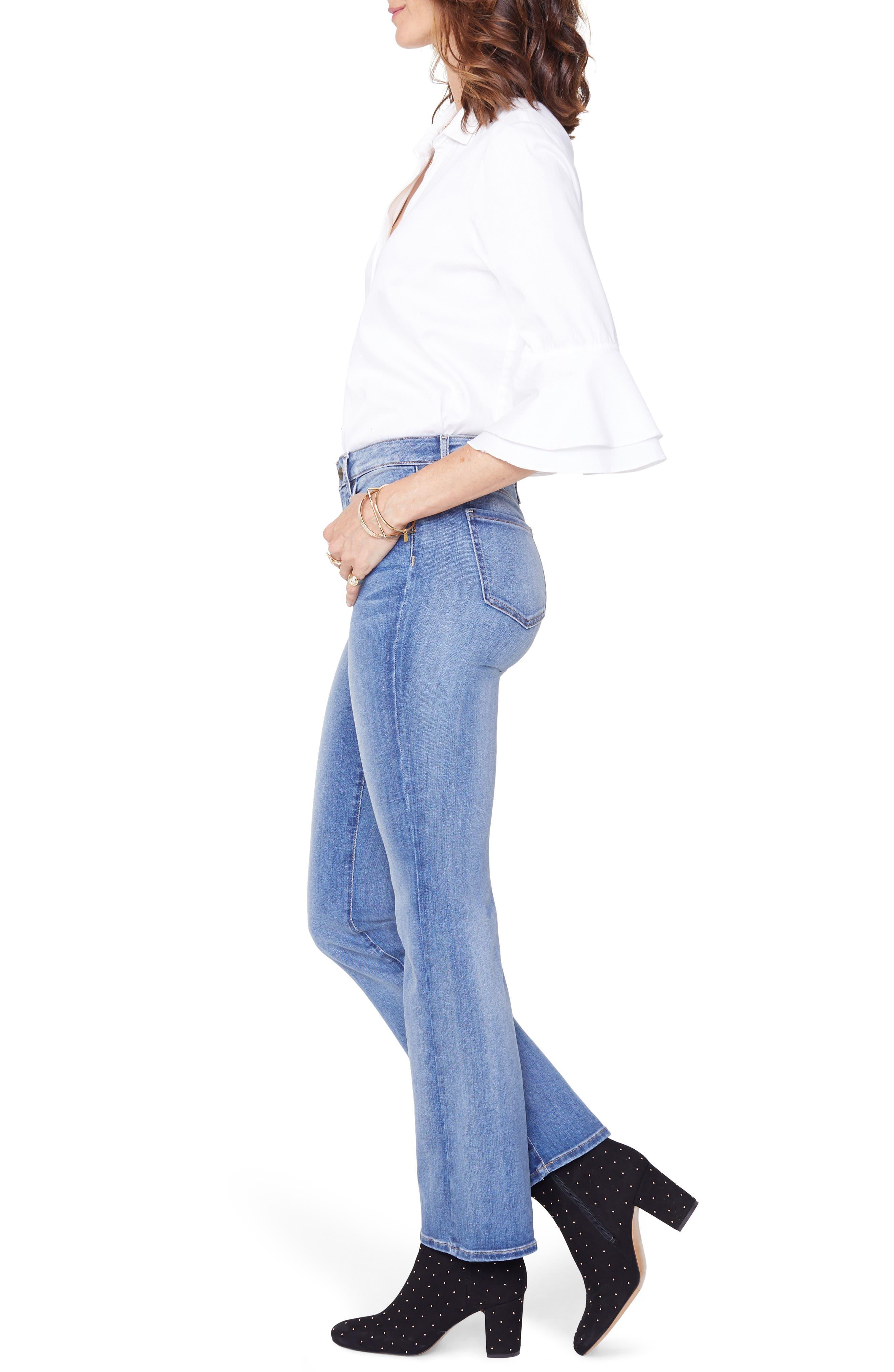 Barbara Bootcut Jeans,                             Alternate thumbnail 3, color,                             CLEAN CABRILLO