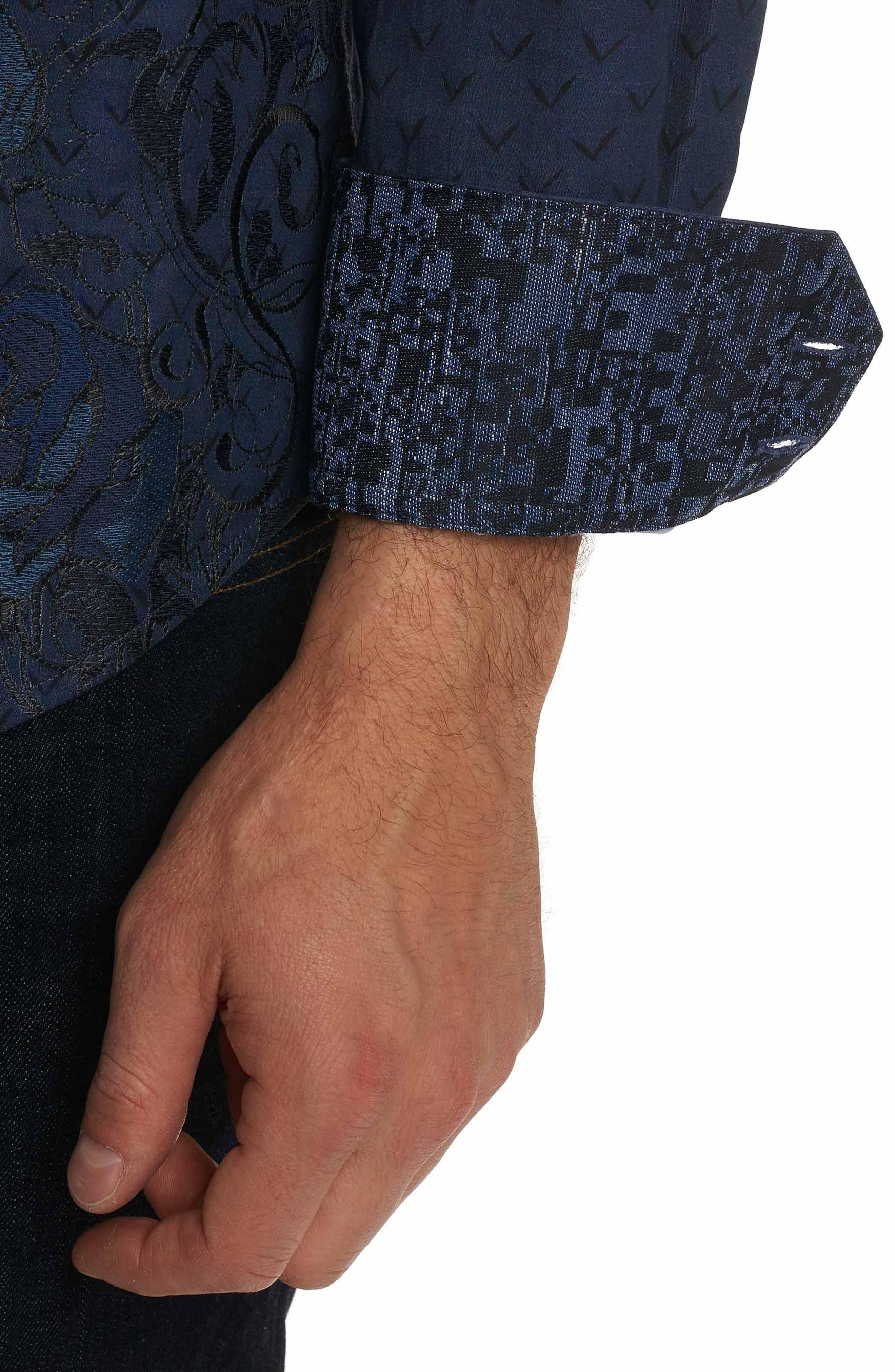 Lionel Classic Fit Sport Shirt,                             Alternate thumbnail 3, color,                             INDIGO