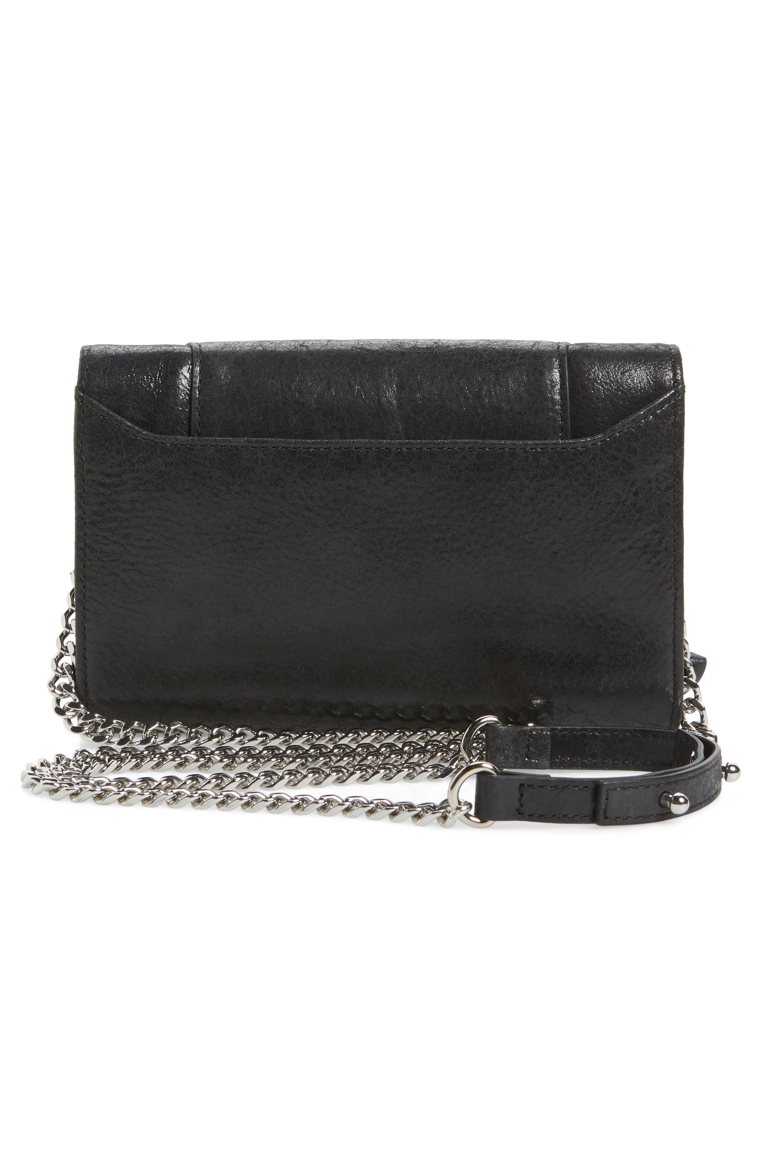 Logan Leather Crossbody Wallet,                             Alternate thumbnail 9, color,