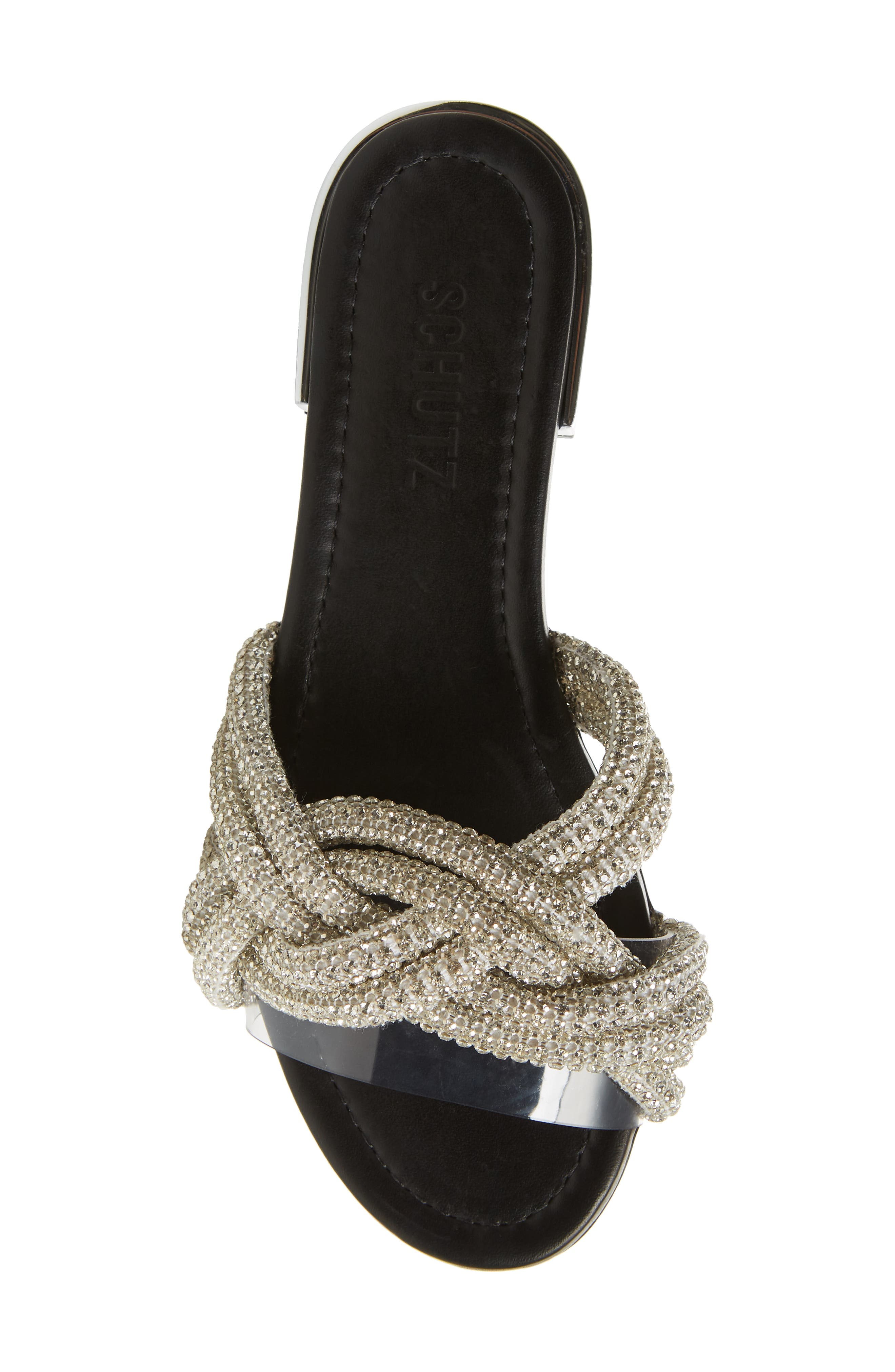Lindy Braided Slide Sandal,                             Alternate thumbnail 5, color,                             SILVER METALLIC