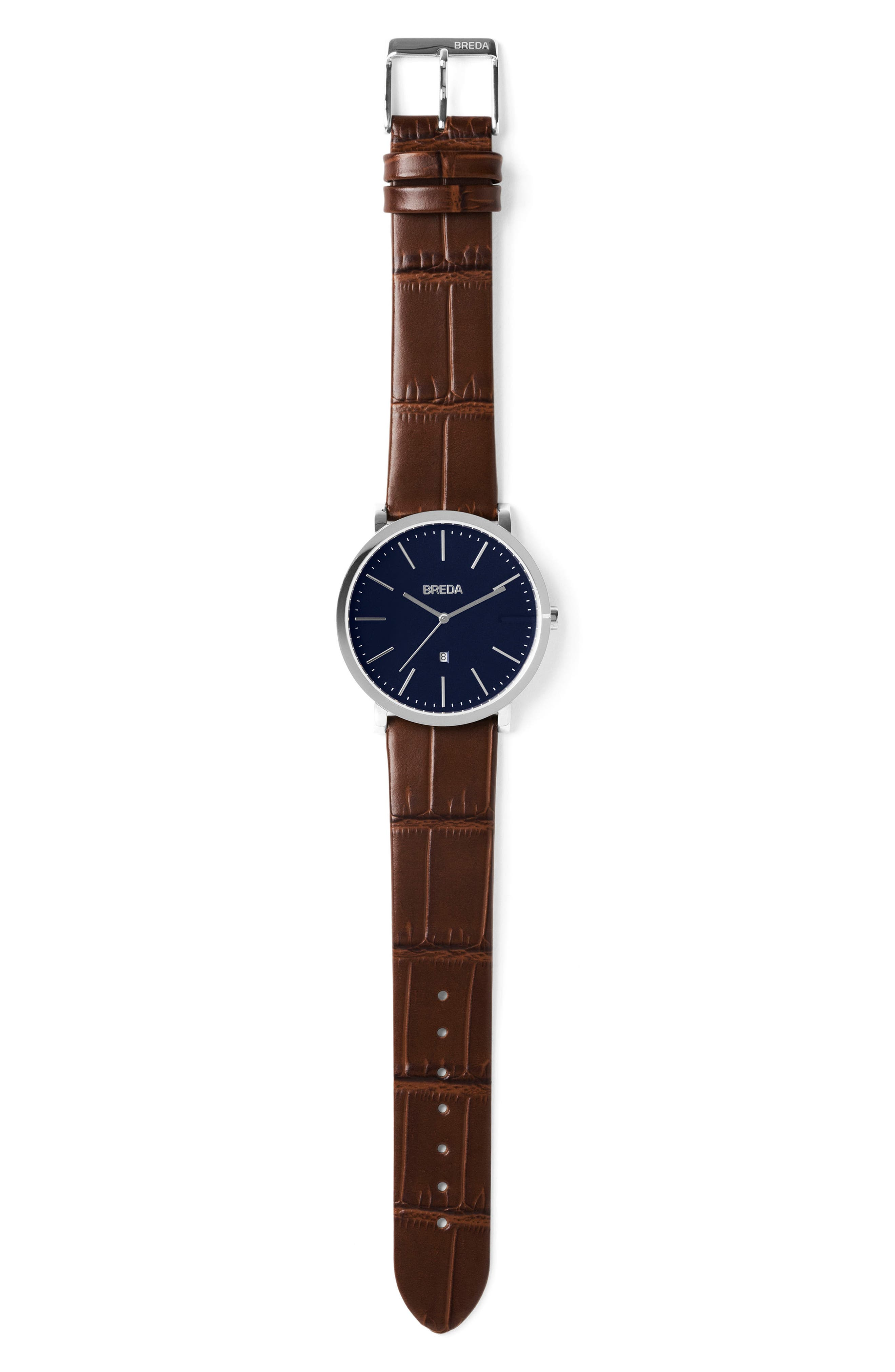 Breuer Leather Strap Watch, 39mm,                             Alternate thumbnail 14, color,