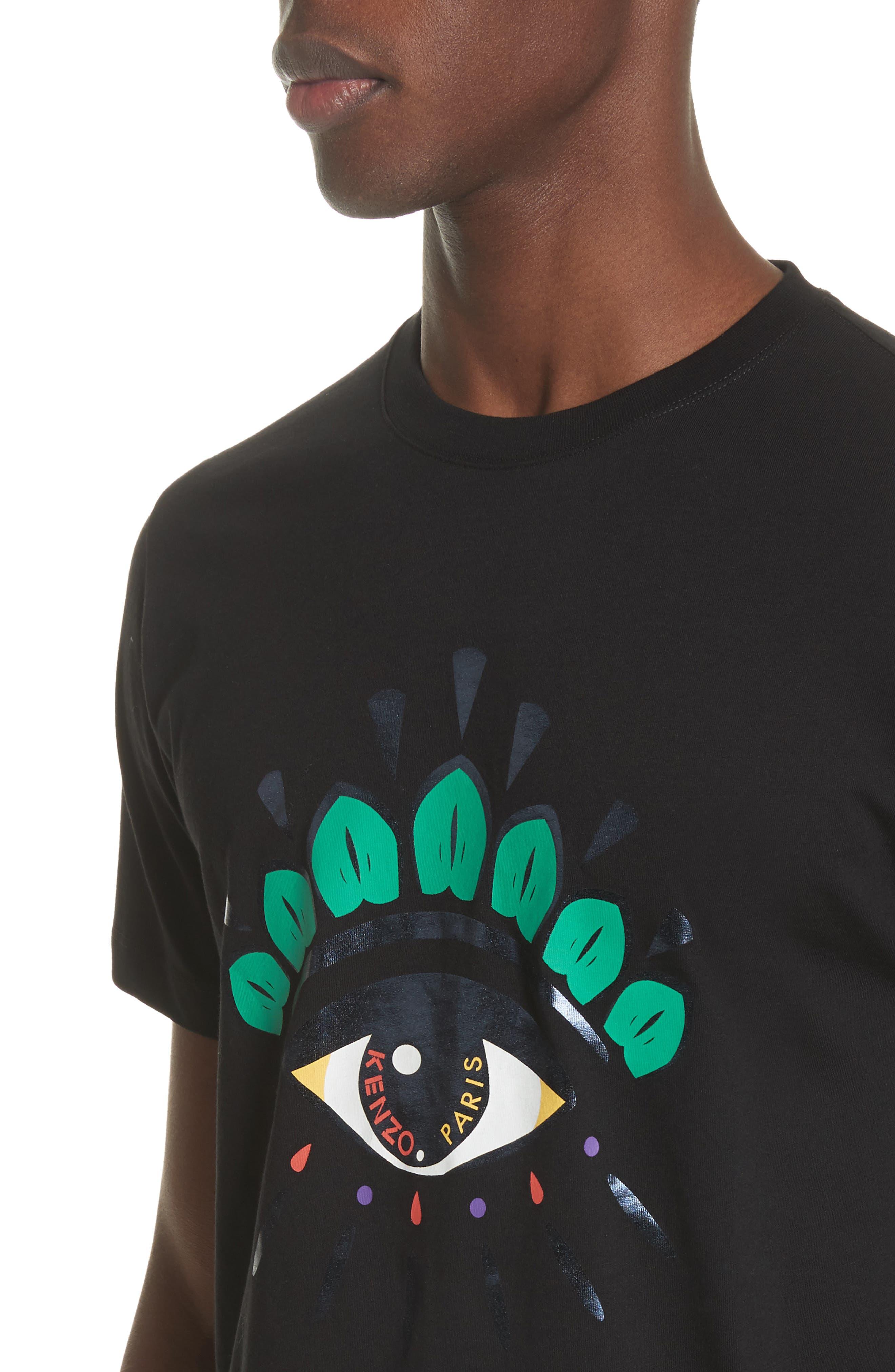Eye Print Graphic T-Shirt,                             Alternate thumbnail 4, color,