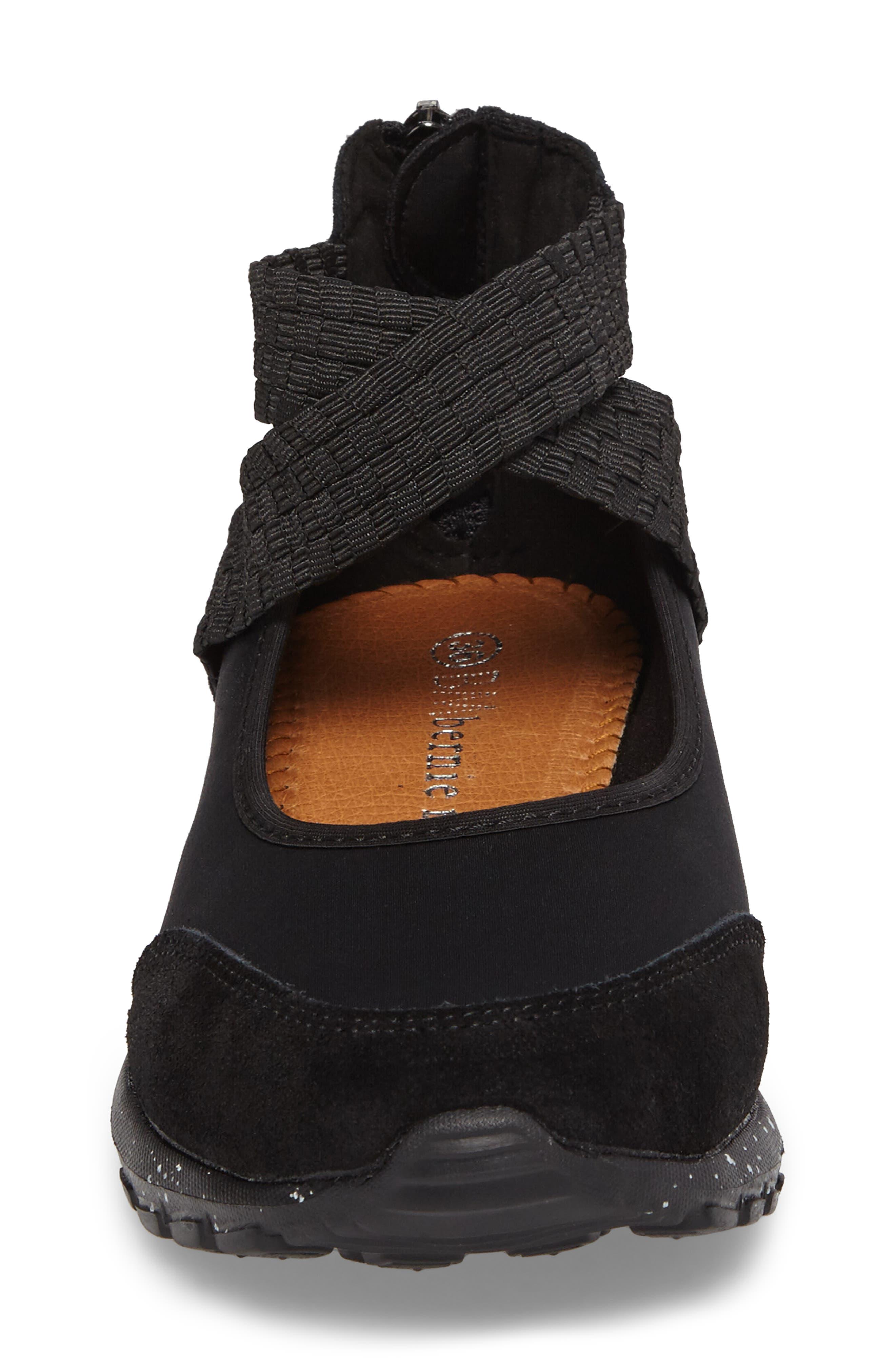 Bernie Mev Runner Flow Sneaker,                             Alternate thumbnail 4, color,                             001