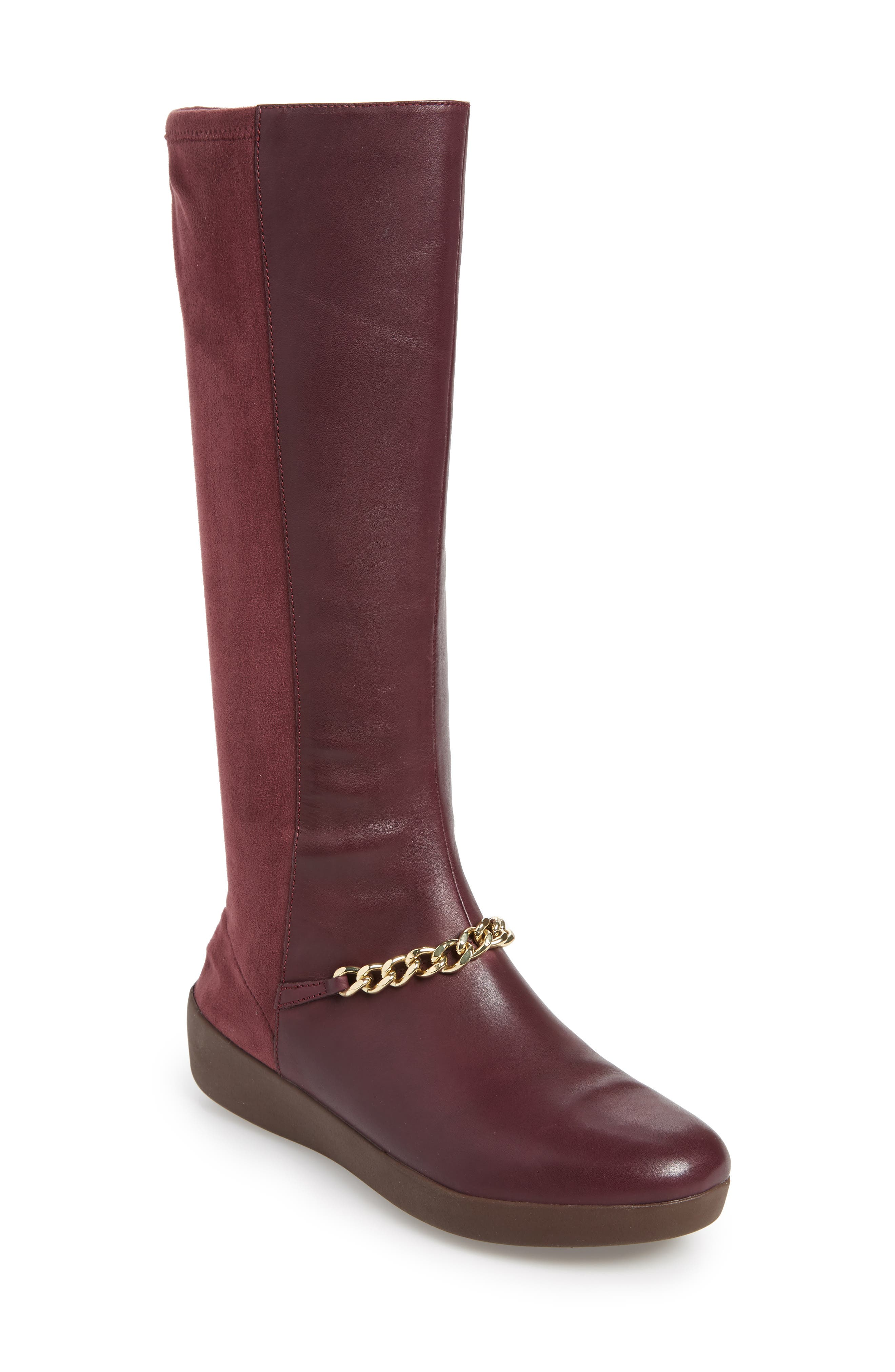 Fitflop Fifi Knee High Boot, Burgundy