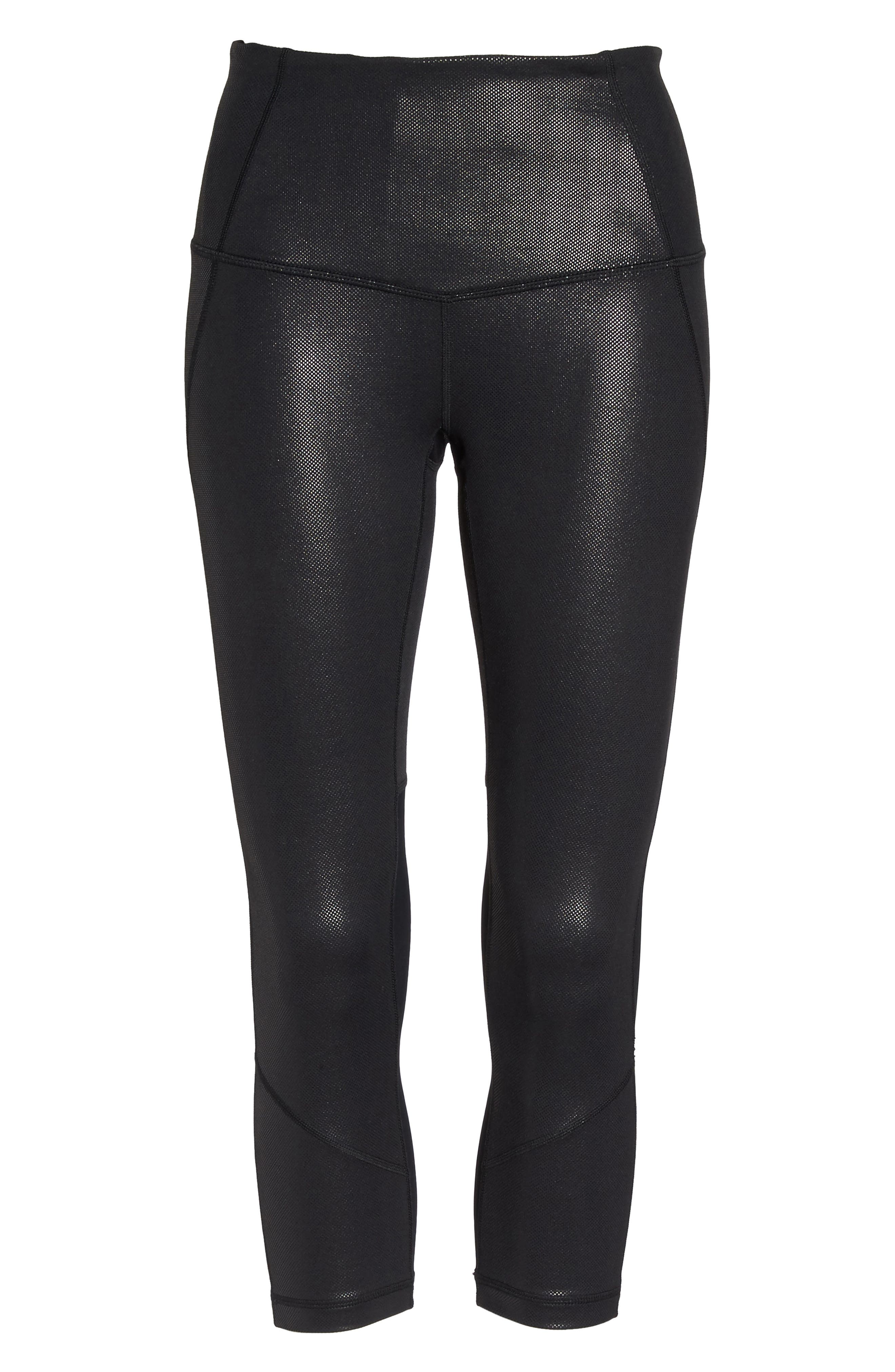 'Live In - Sultry' High Waist Mesh Crop Leggings,                             Alternate thumbnail 55, color,