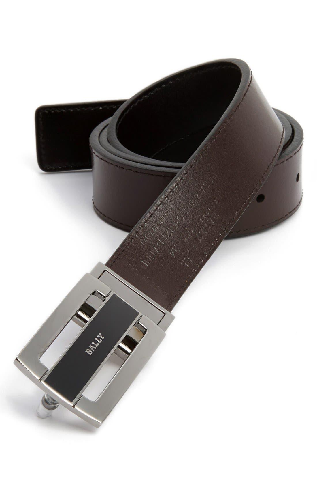 Reversible Calfskin Belt, Main, color, 001