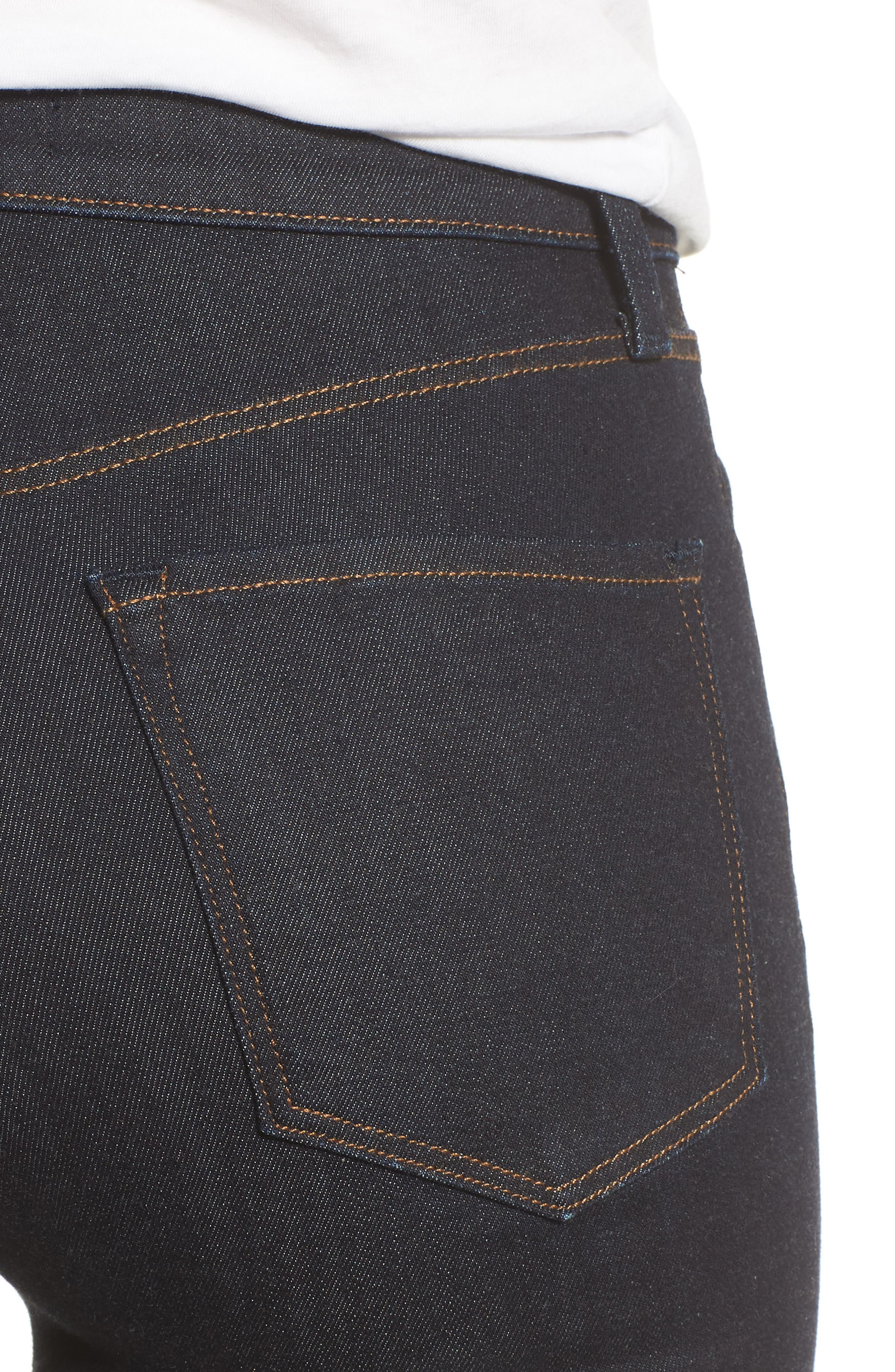 Maria High Waist Super Skinny Jeans,                             Alternate thumbnail 4, color,                             DARK TWILIGHT