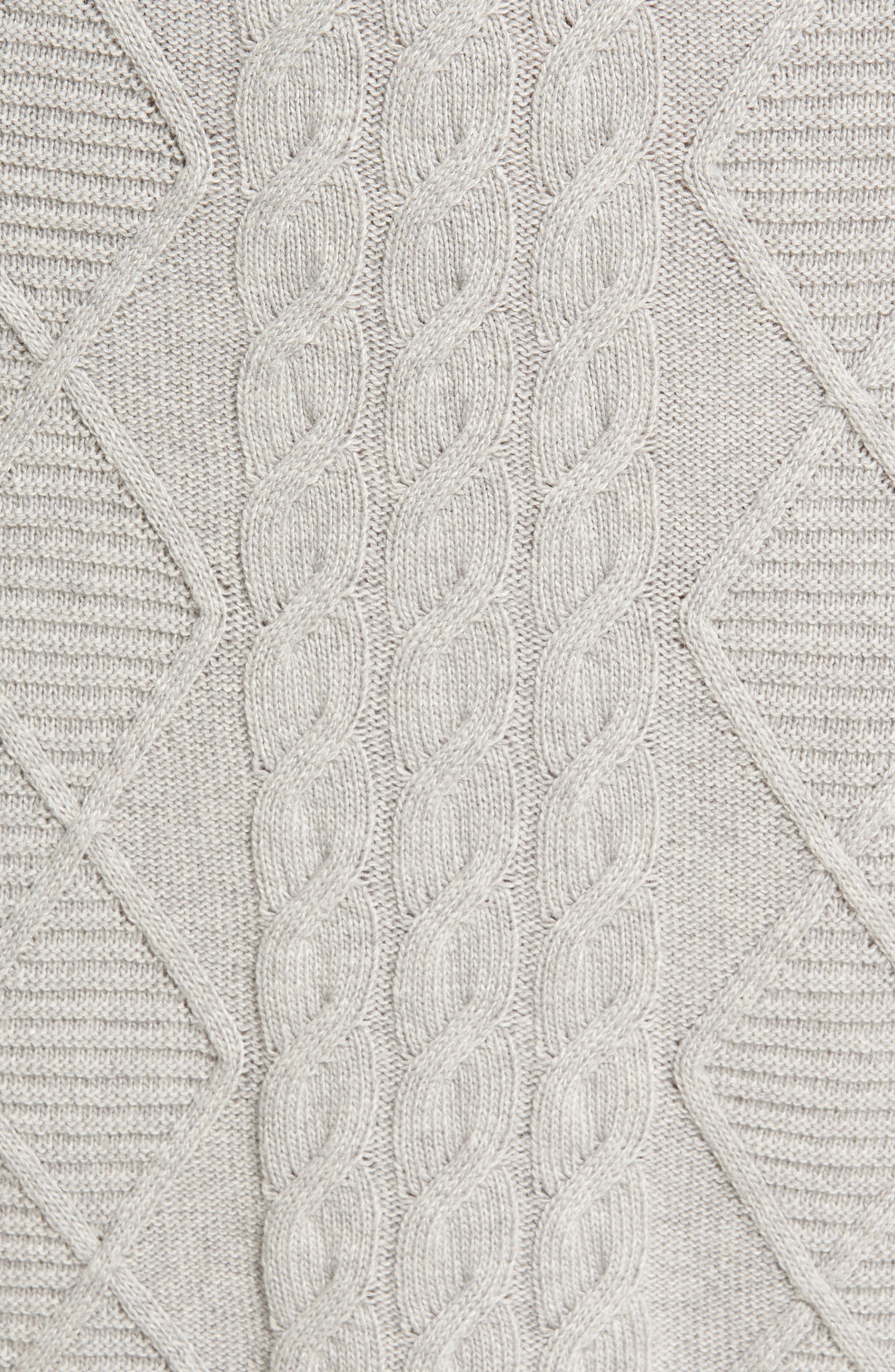 Emmanuel Cable Knit Sweater Dress,                             Alternate thumbnail 5, color,                             050