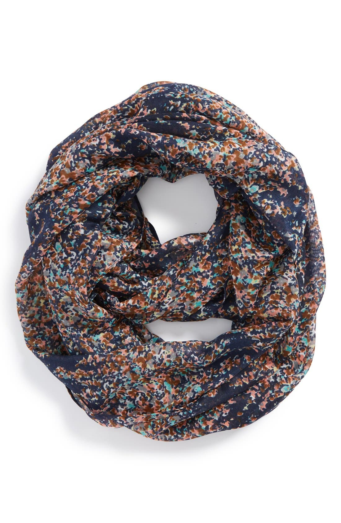 'Scattered Ditsy' Floral Print Infinity Scarf,                             Main thumbnail 1, color,                             400