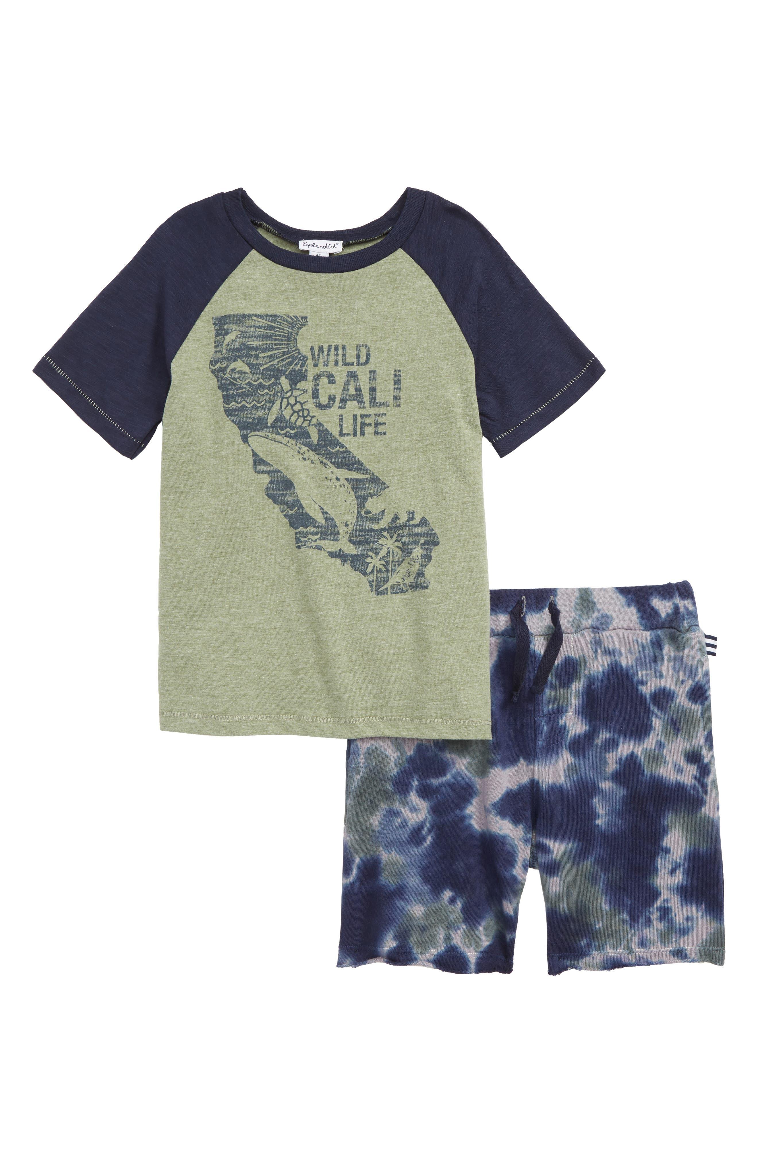 Boys Splendid Wild Cali Life TShirt  Shorts Set