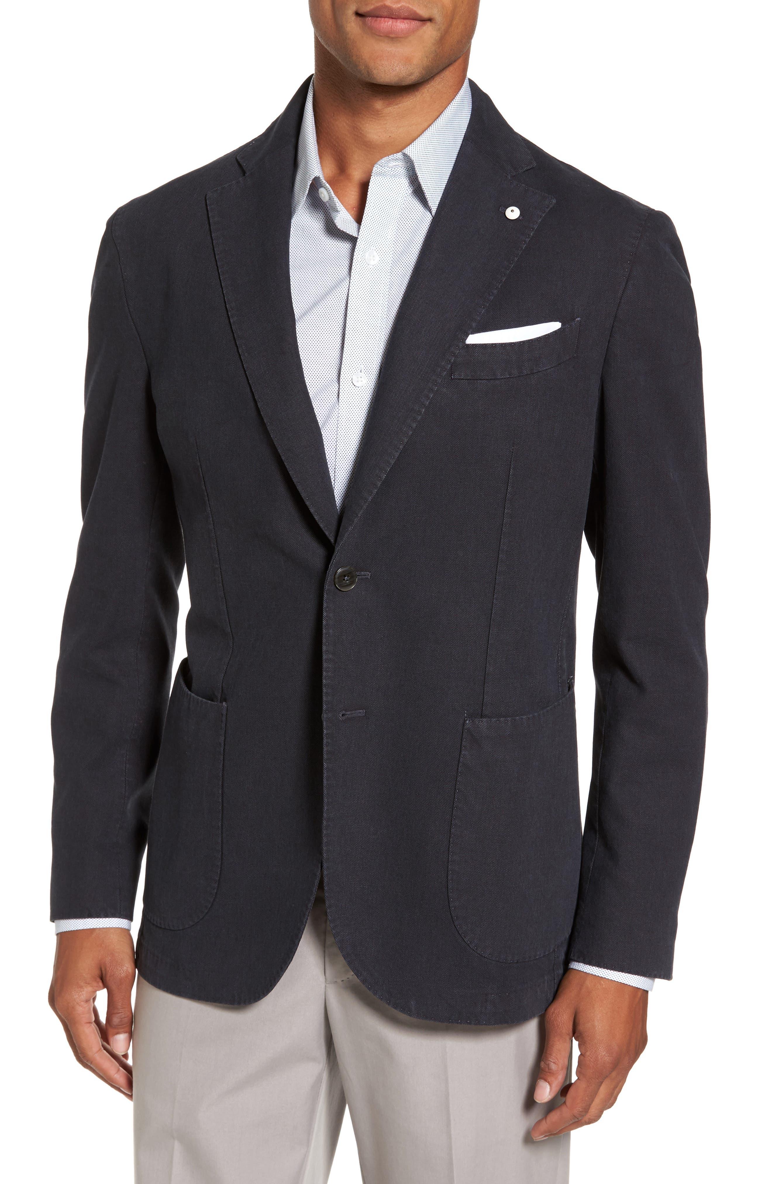 Classic Fit Cotton Blend Blazer,                             Main thumbnail 1, color,                             001