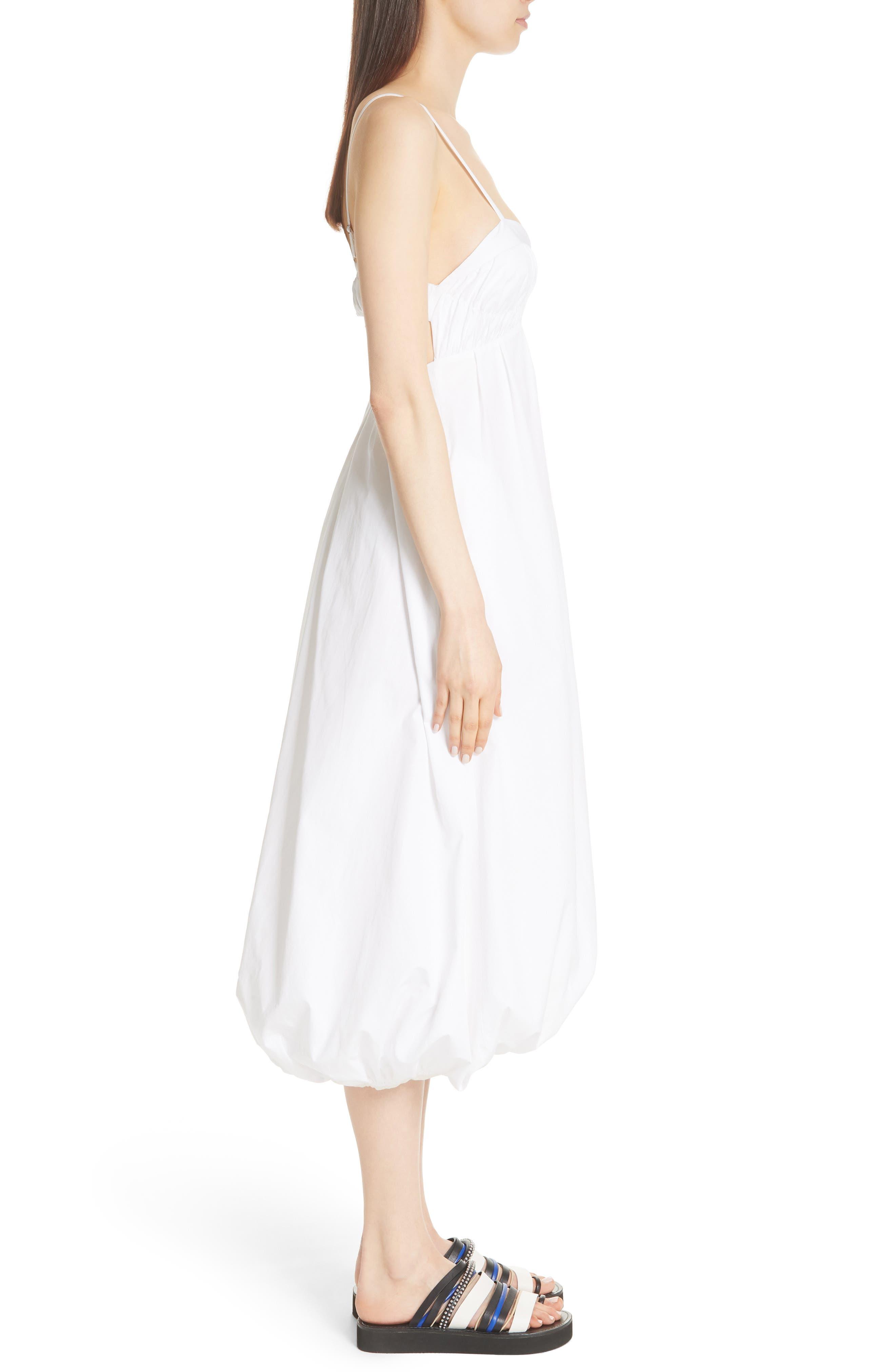 Bubble Hem Dress,                             Alternate thumbnail 3, color,                             400