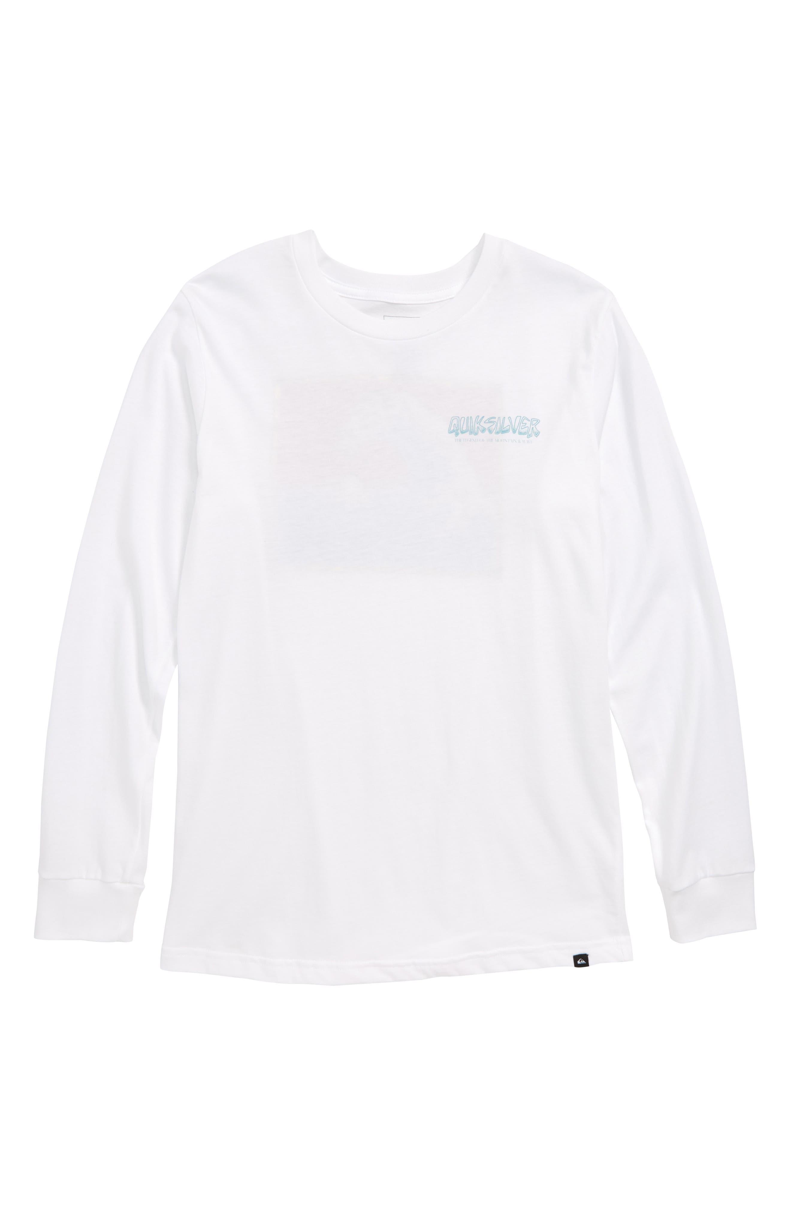 The Original Mountain & Wave Graphic T-Shirt,                             Main thumbnail 1, color,                             WHITE