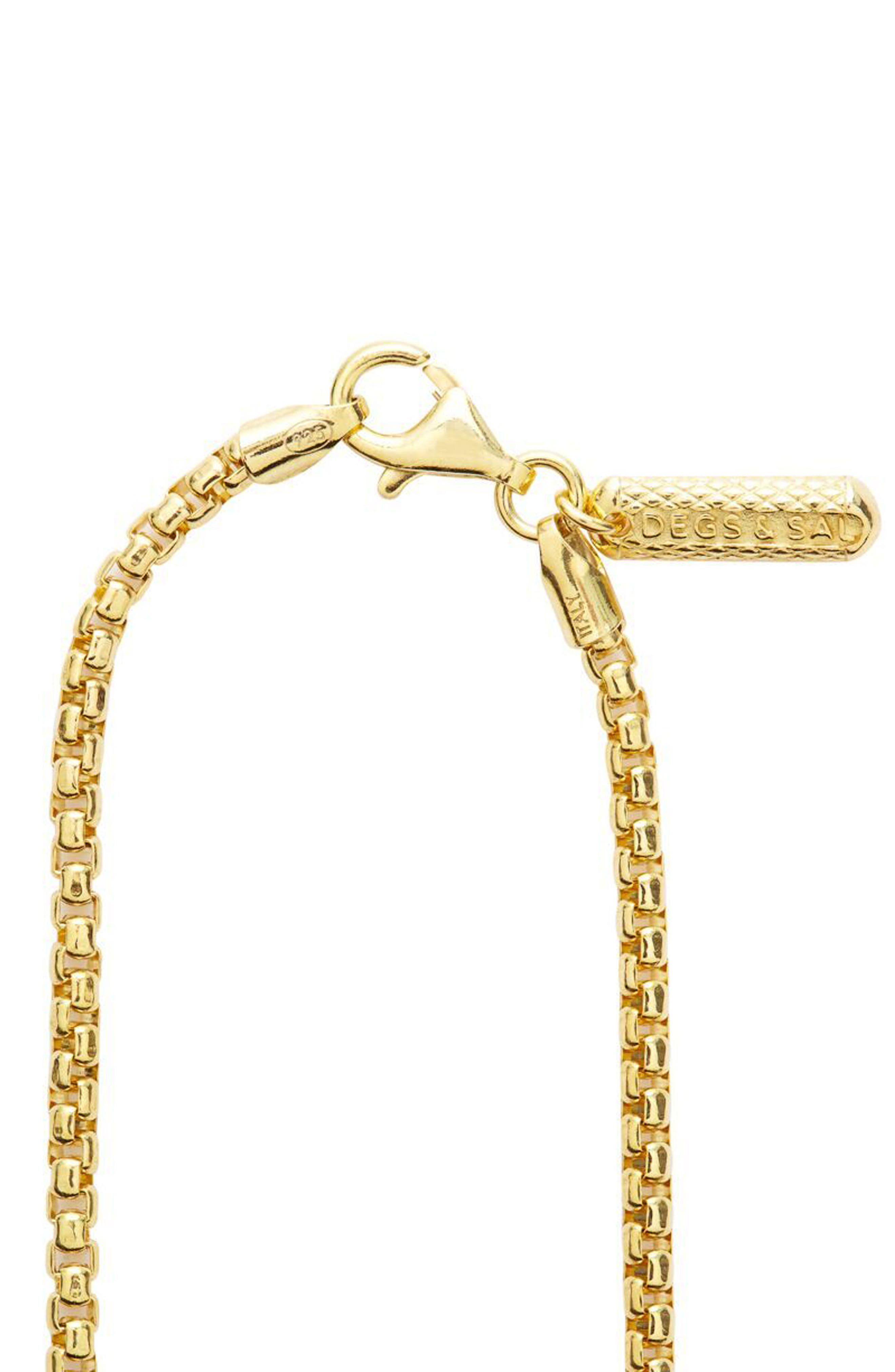 Box Chain Necklace,                             Alternate thumbnail 2, color,                             GOLD