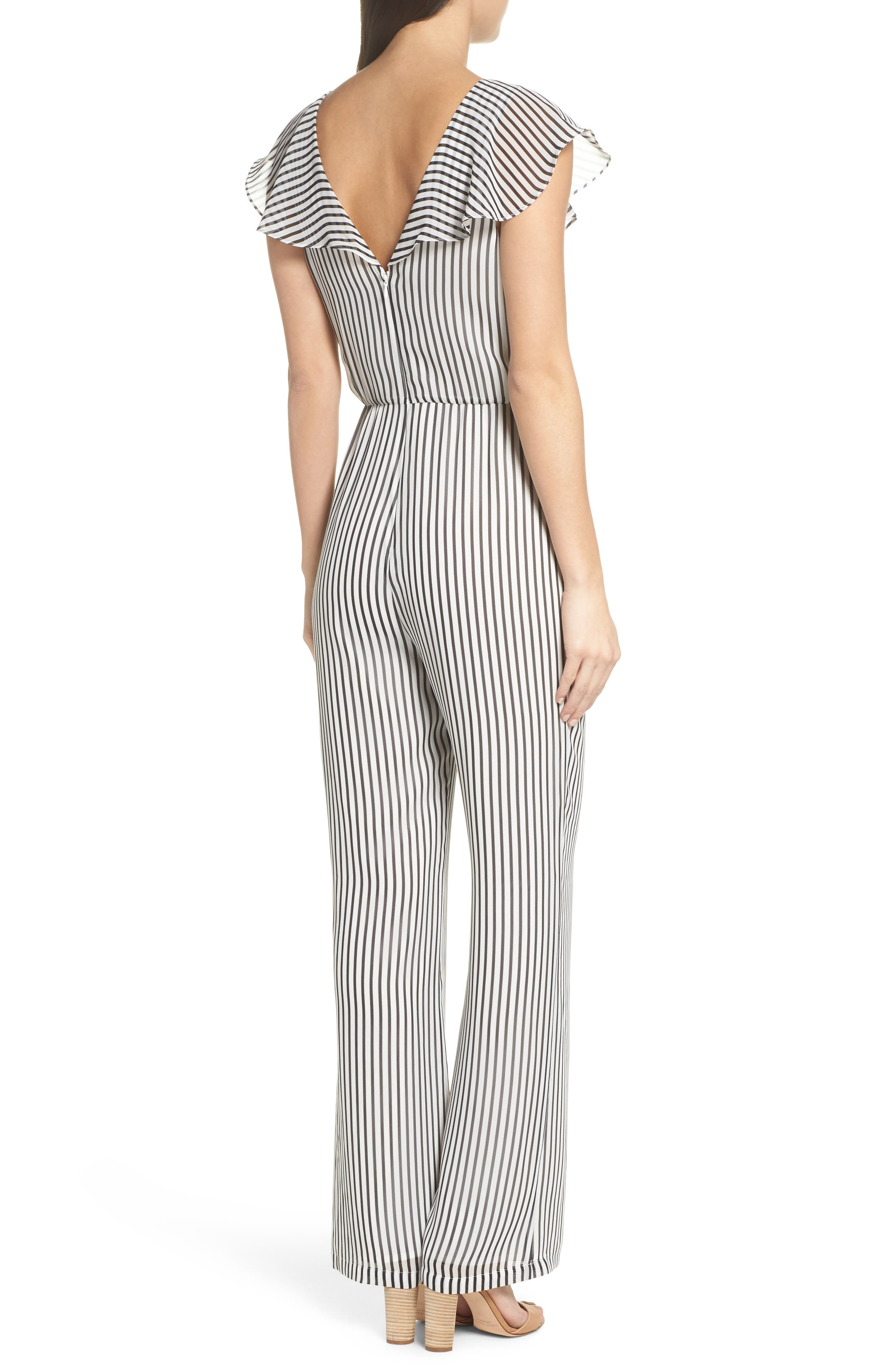 Cherry on Top Stripe Ruffle Jumpsuit,                             Alternate thumbnail 2, color,
