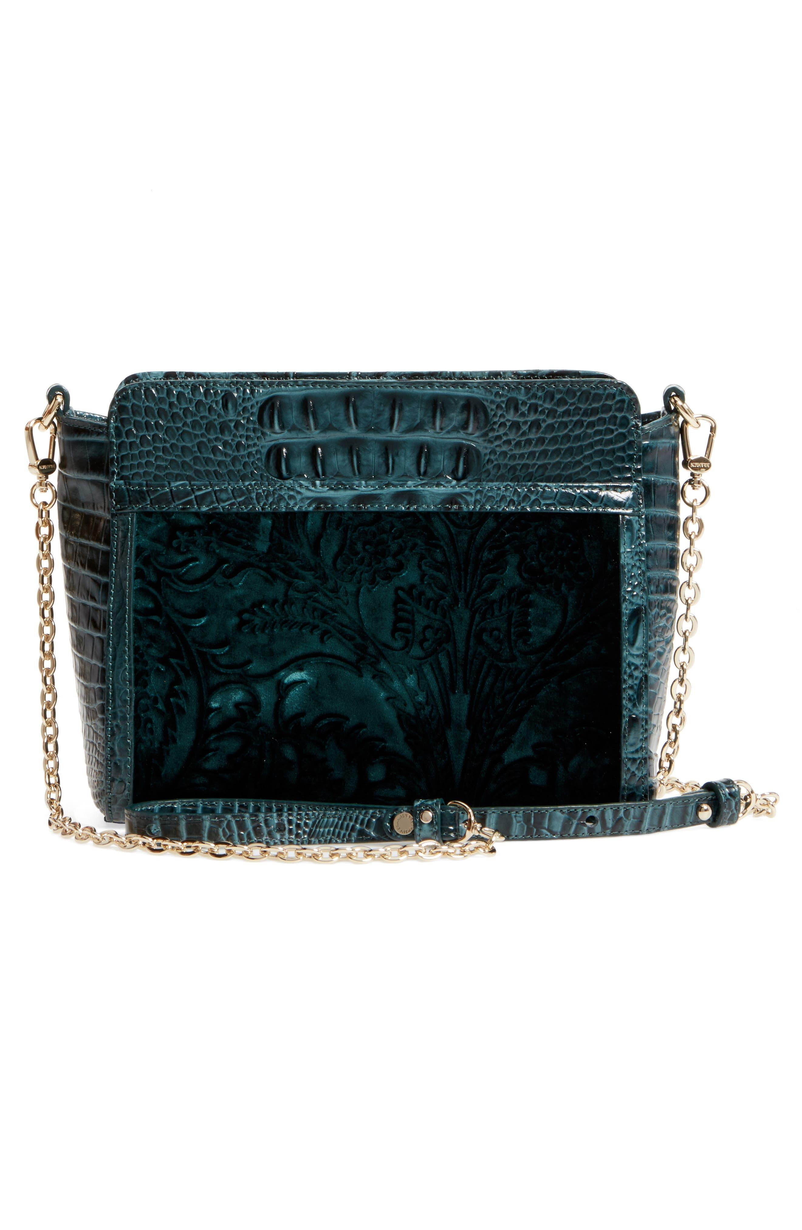 Ivy Cellini Carrie Embossed Velvet Crossbody Bag,                             Alternate thumbnail 3, color,                             353