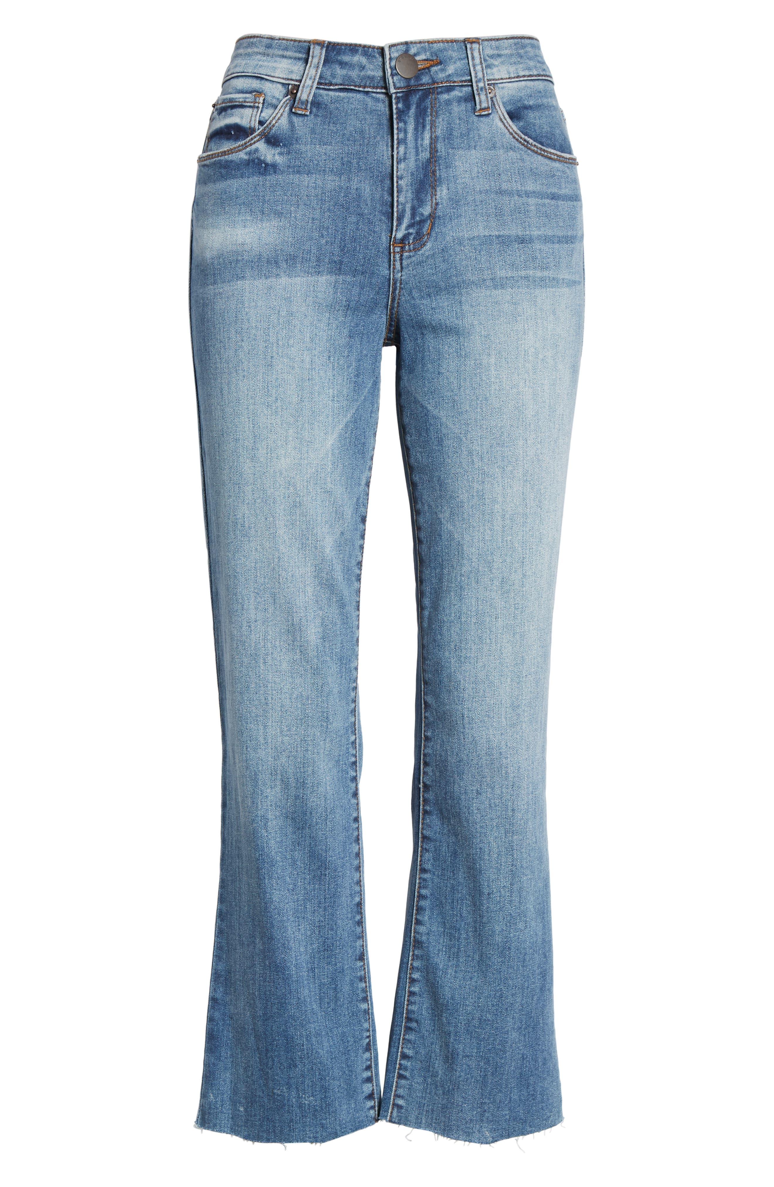 STS Blue Brooke Crop Flare Jeans,                             Alternate thumbnail 7, color,                             TOPAZ