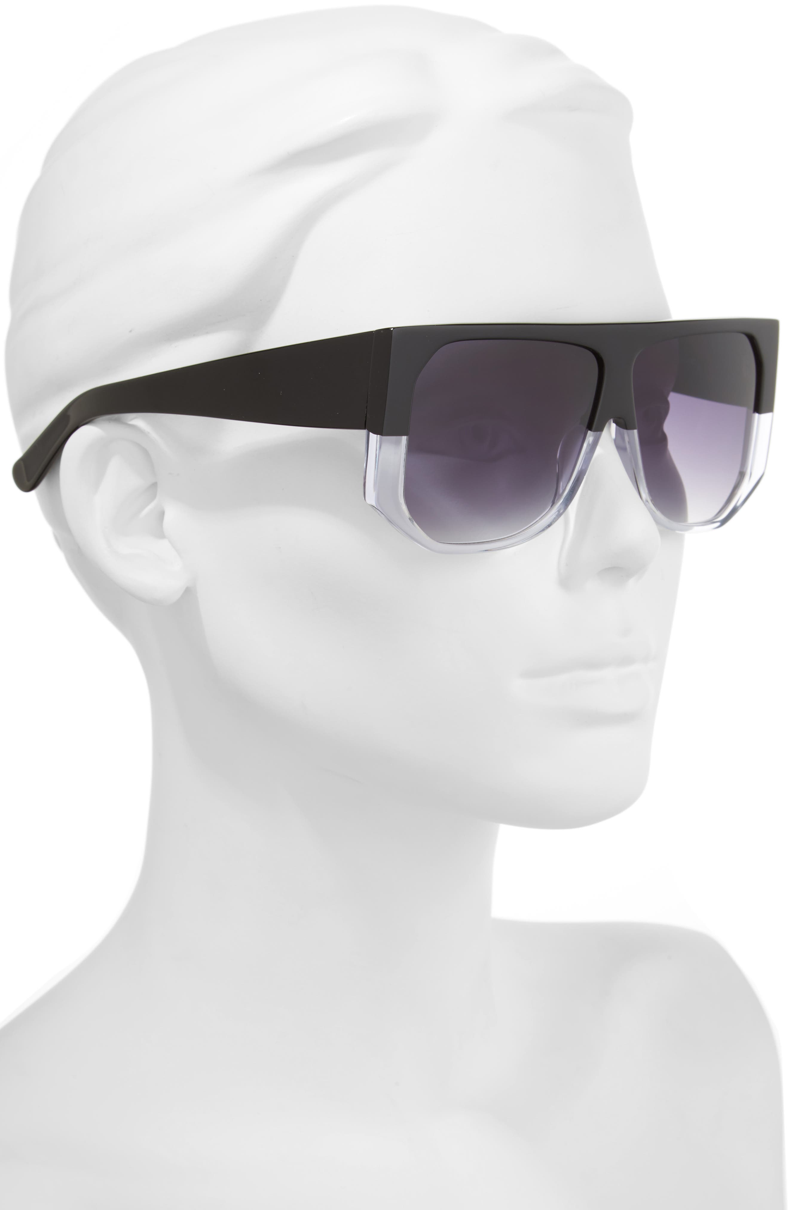 HADID,                             Frequent Flyer 58mm Sunglasses,                             Alternate thumbnail 2, color,                             001