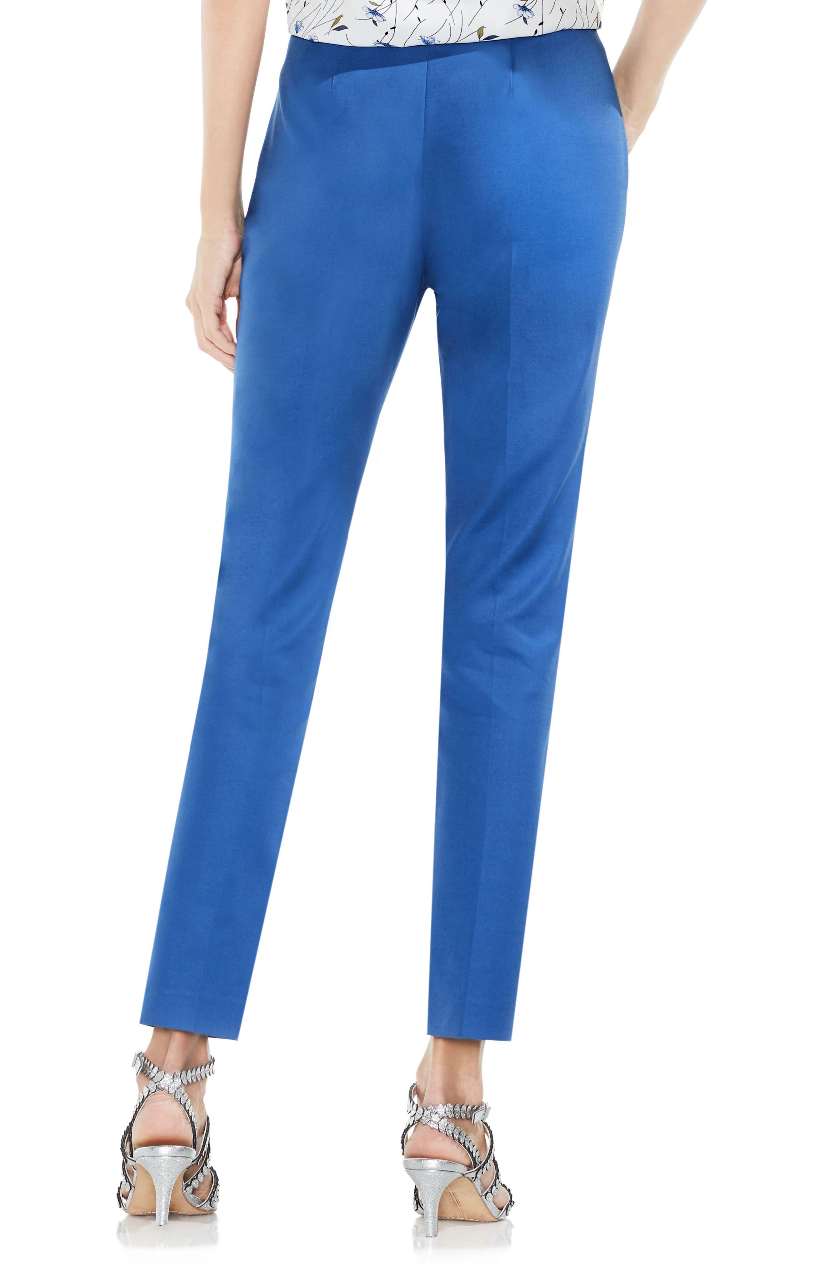 Side Zip Double Weave Pants,                             Alternate thumbnail 24, color,
