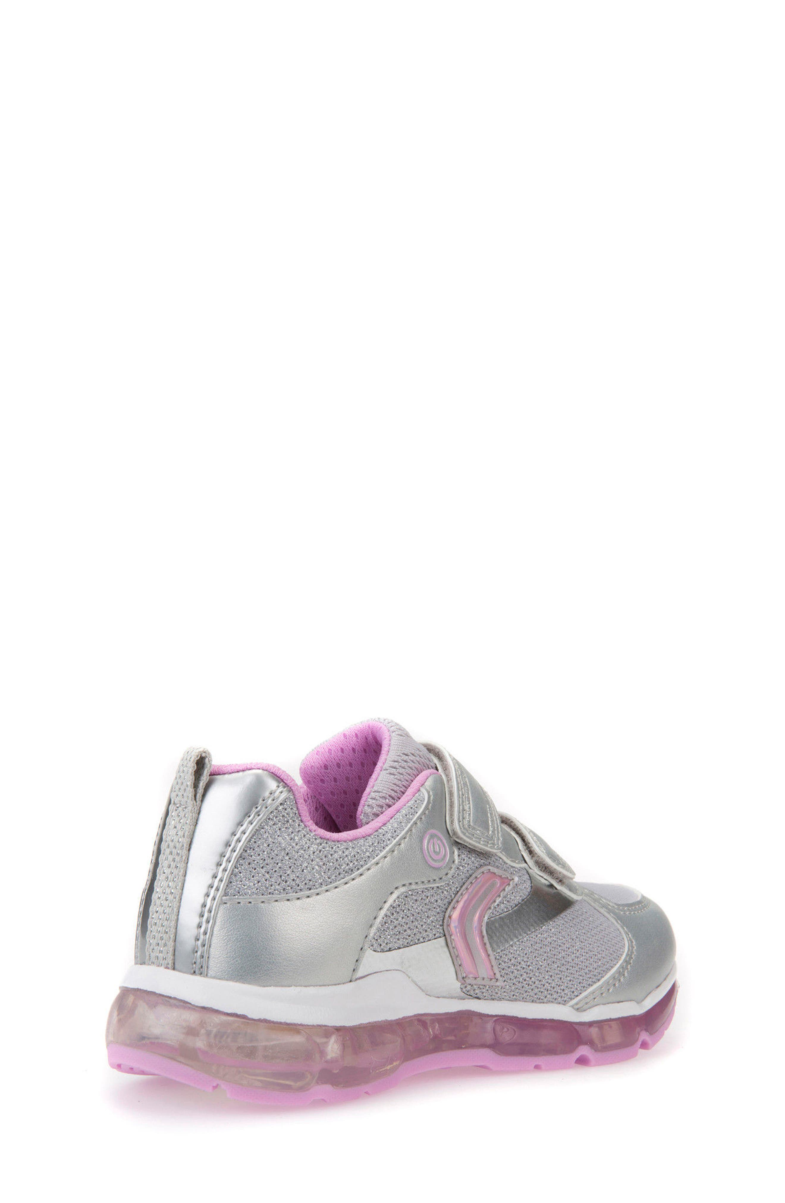 Android Light-Up Sneaker,                             Alternate thumbnail 2, color,                             SILVER/ PINK