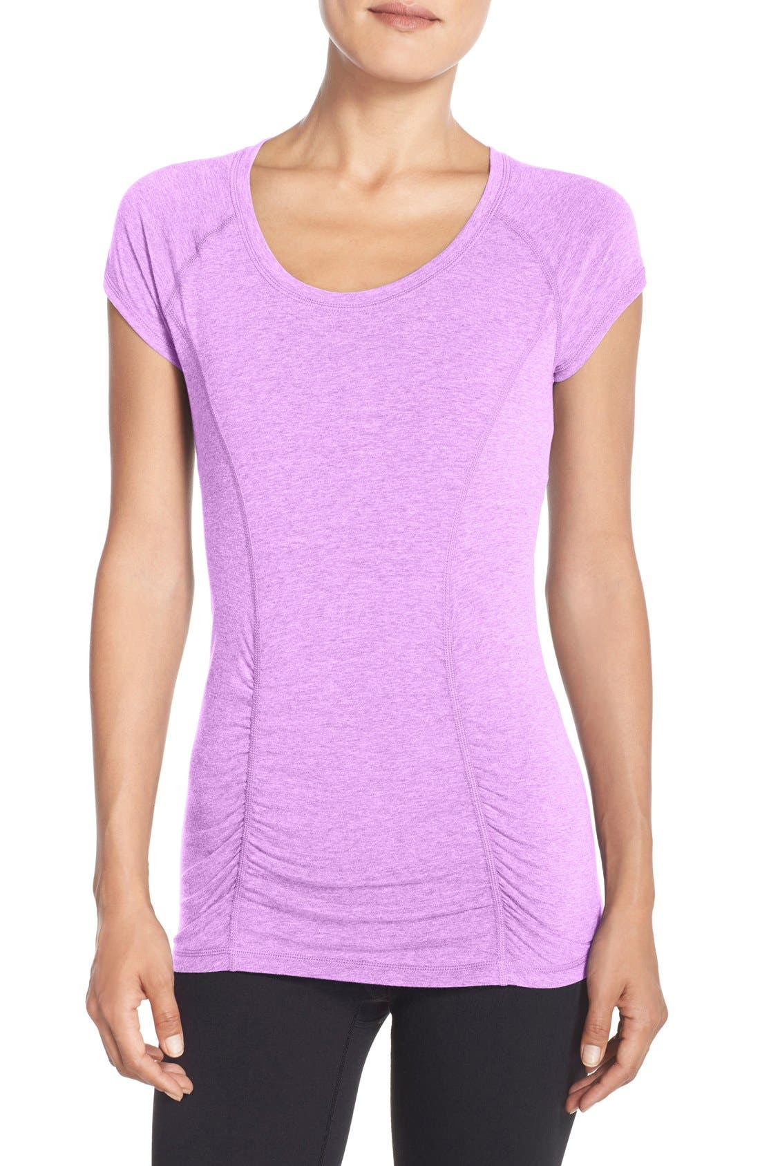 'Z 6' Ruched Tee,                             Main thumbnail 14, color,