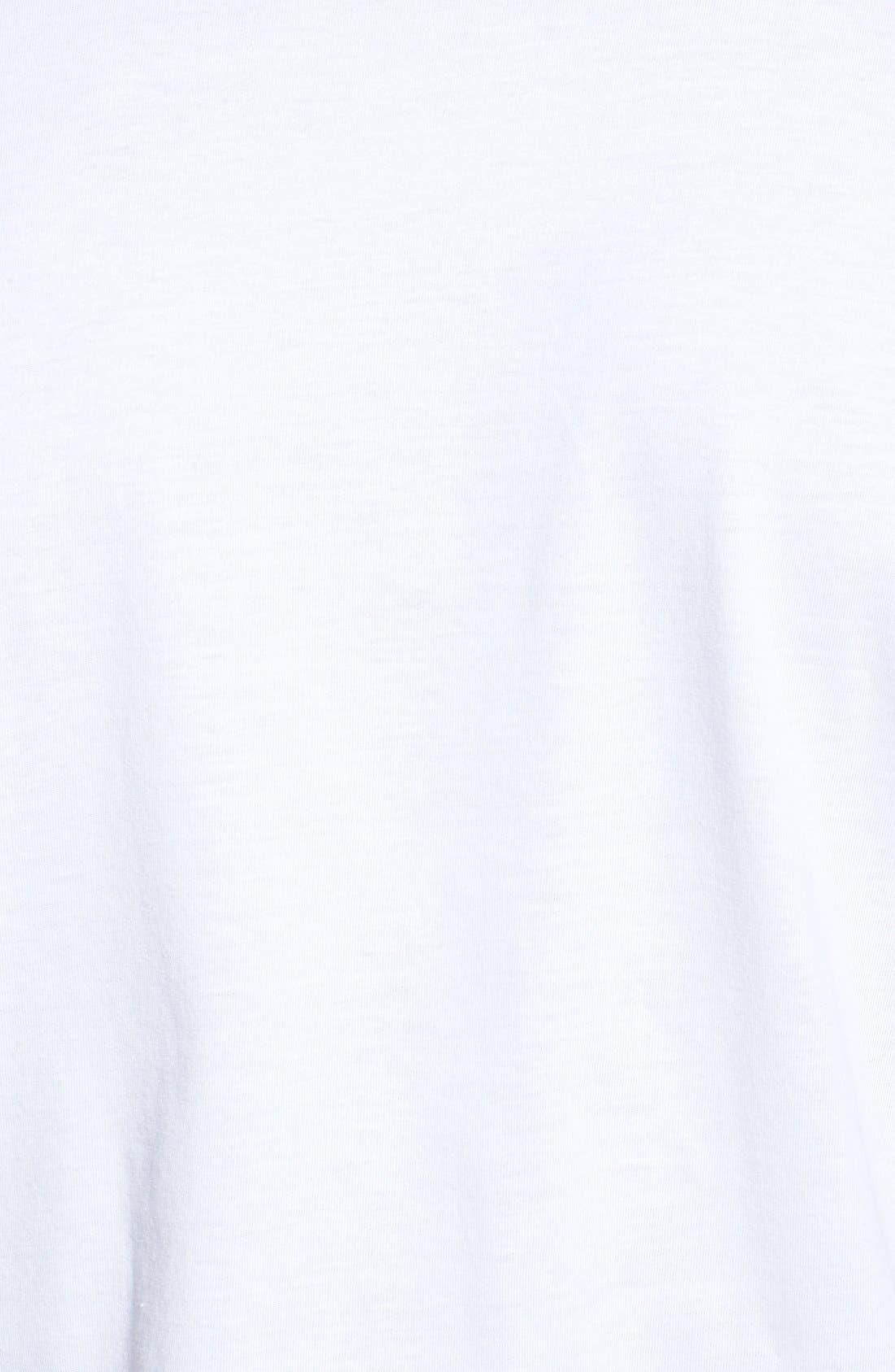 NORDSTROM MEN'S SHOP,                             Regular Fit 4-Pack Supima<sup>®</sup> Cotton T-Shirts,                             Alternate thumbnail 9, color,                             WHITE