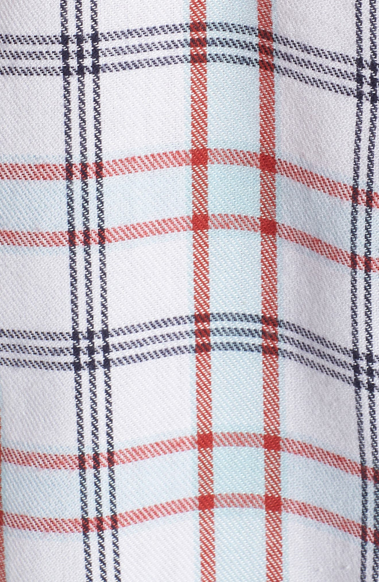 Tartan Boyfriend Shirt,                             Alternate thumbnail 5, color,                             100
