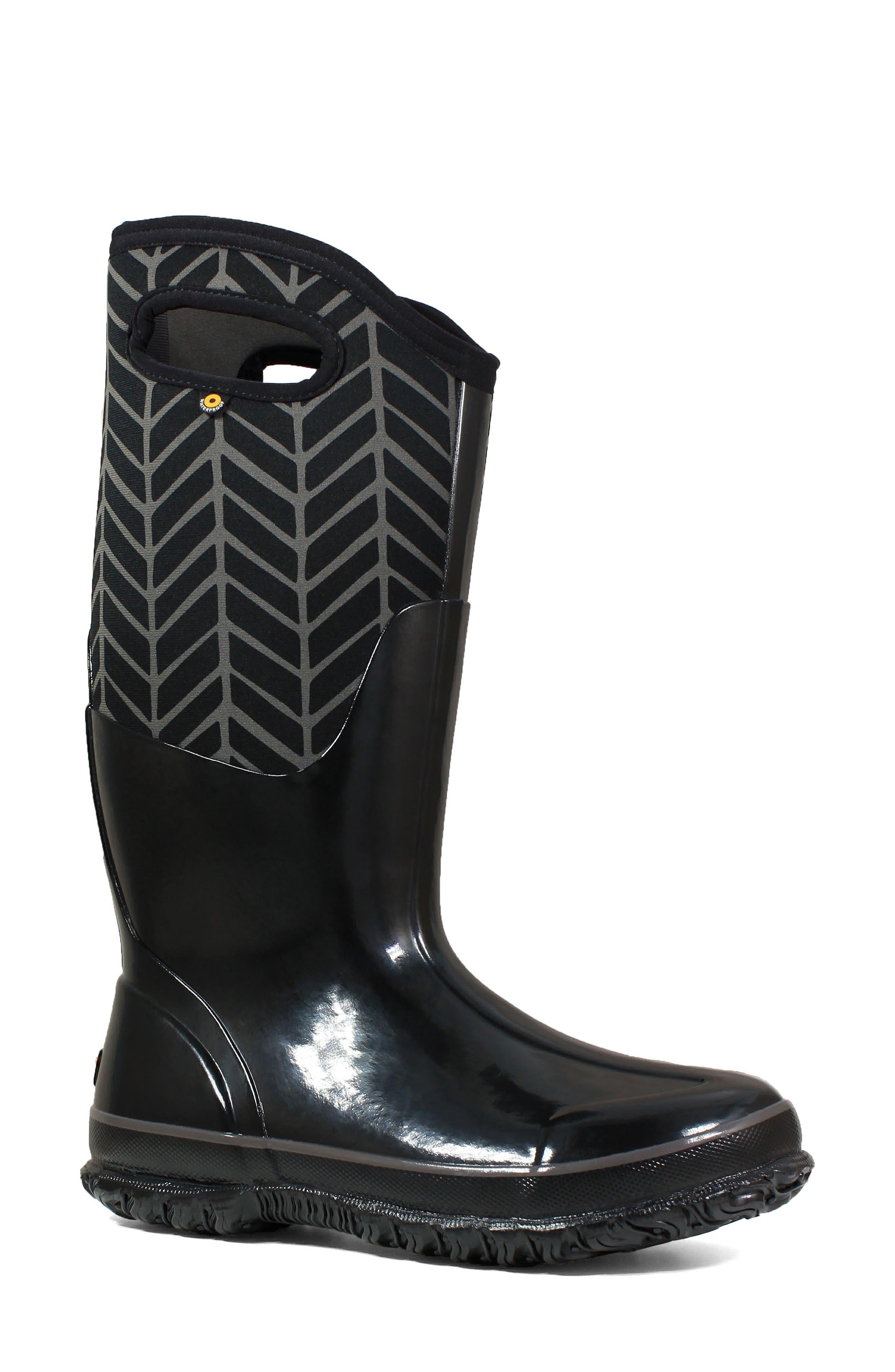 BOGS,                             Classic Tall Badge Waterproof Snow Boot,                             Main thumbnail 1, color,                             009