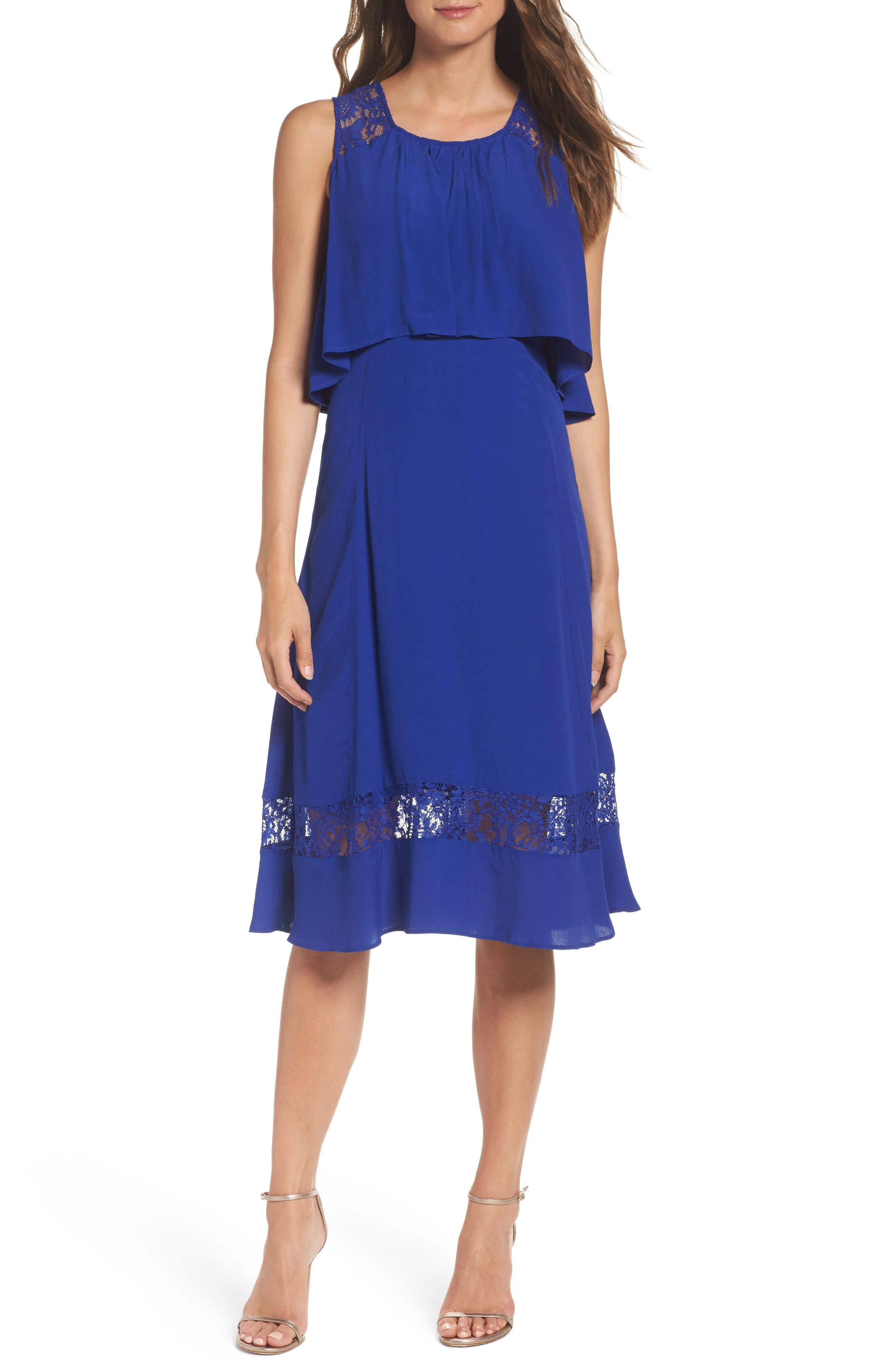 BB Dakota Erin Popover Dress,                             Alternate thumbnail 5, color,                             402