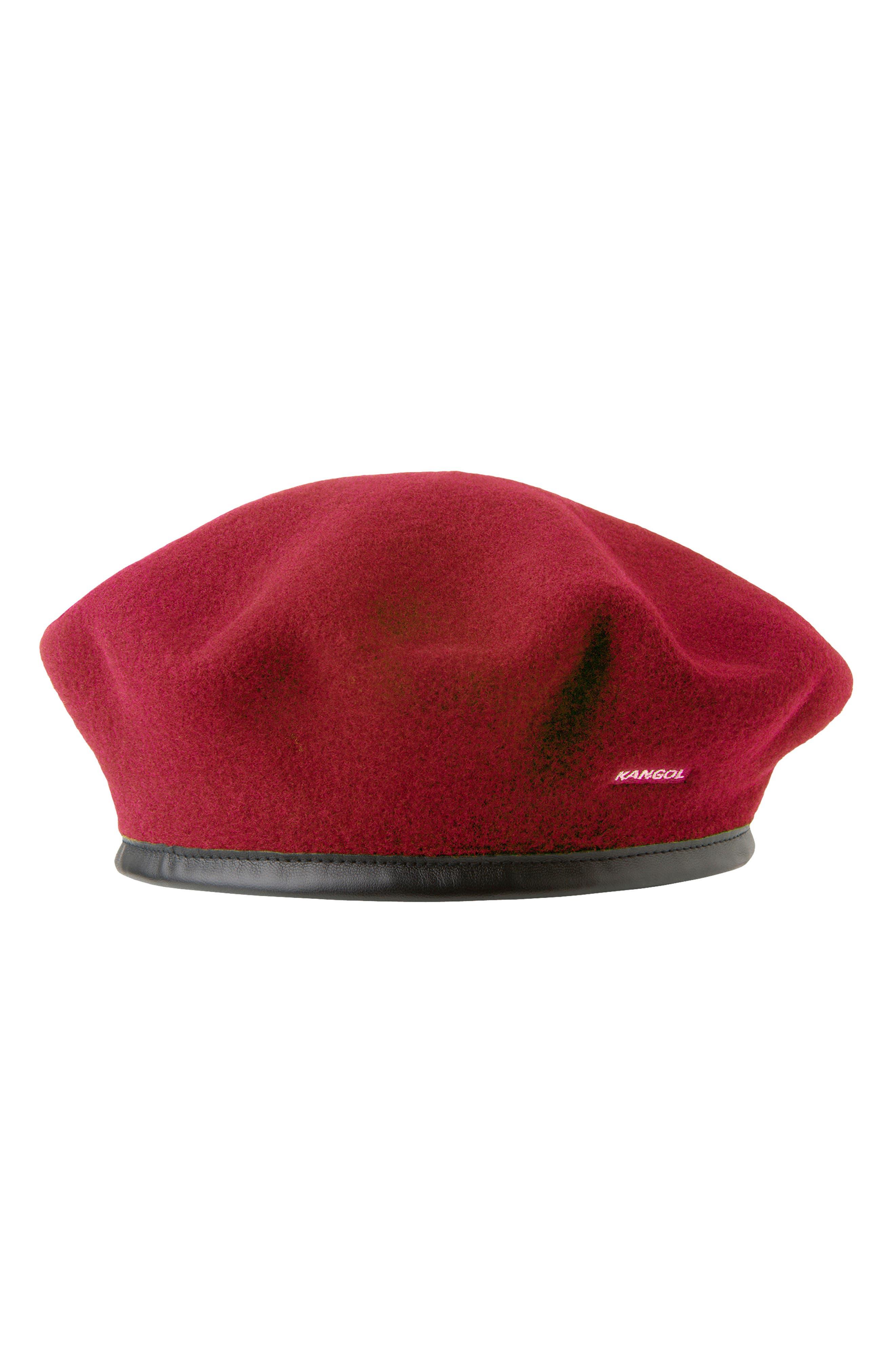 KANGOL Monty Wool Beret - Red
