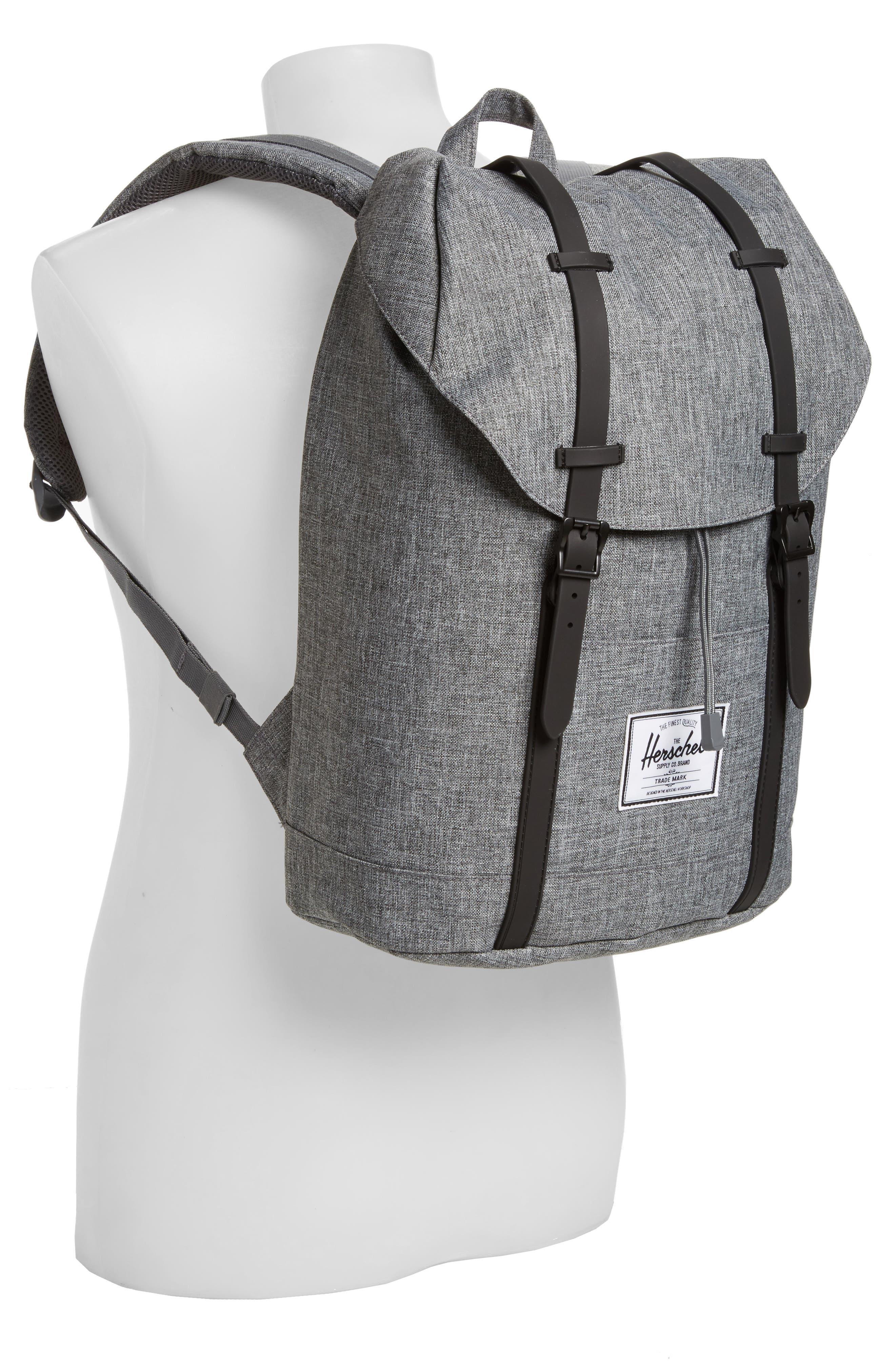 Retreat Backpack,                             Alternate thumbnail 2, color,                             RAVEN CROSSHATCH
