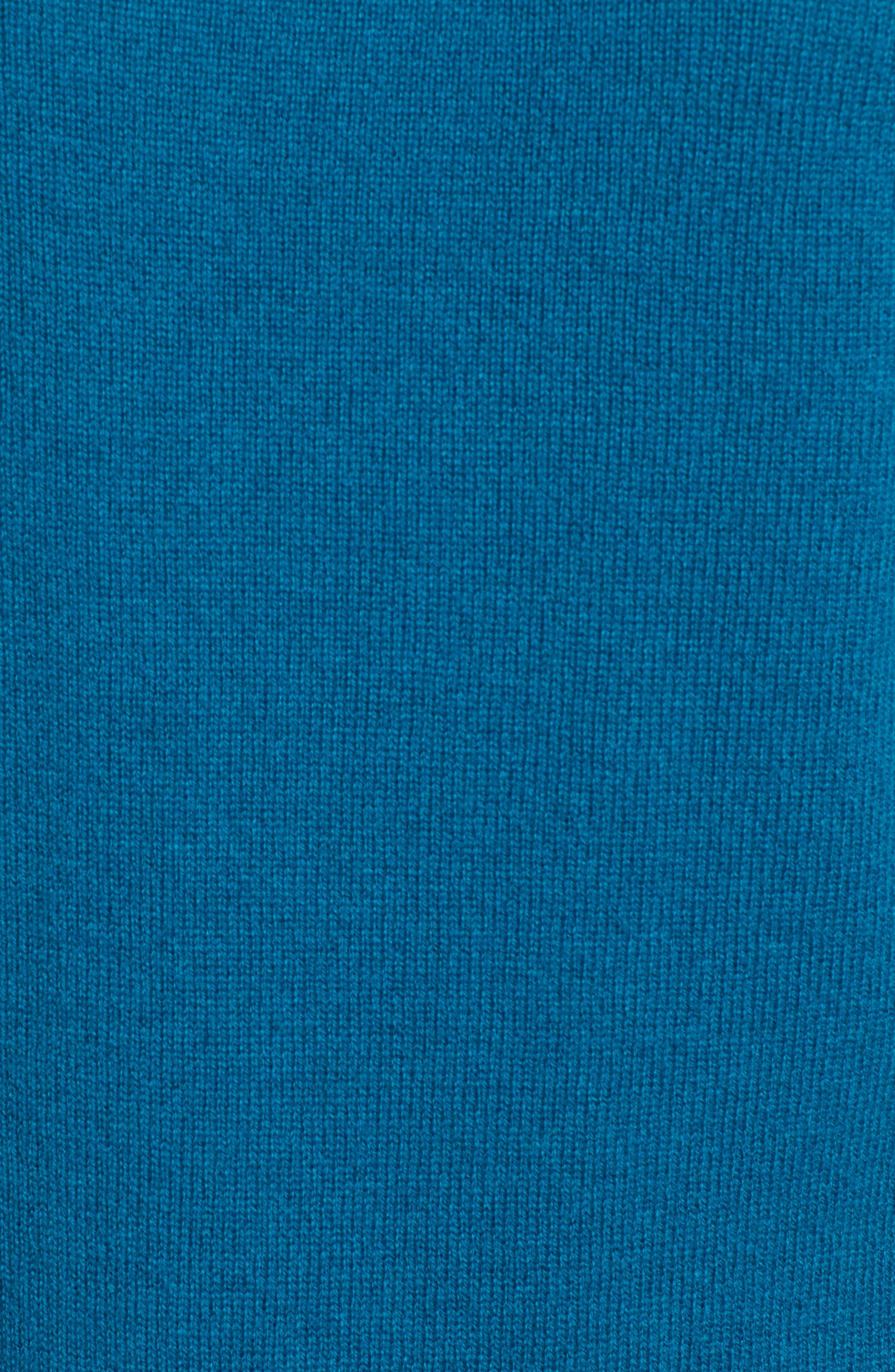 Shirttail Wool & Cashmere Boatneck Tunic,                             Alternate thumbnail 5, color,                             TEAL GLOSS