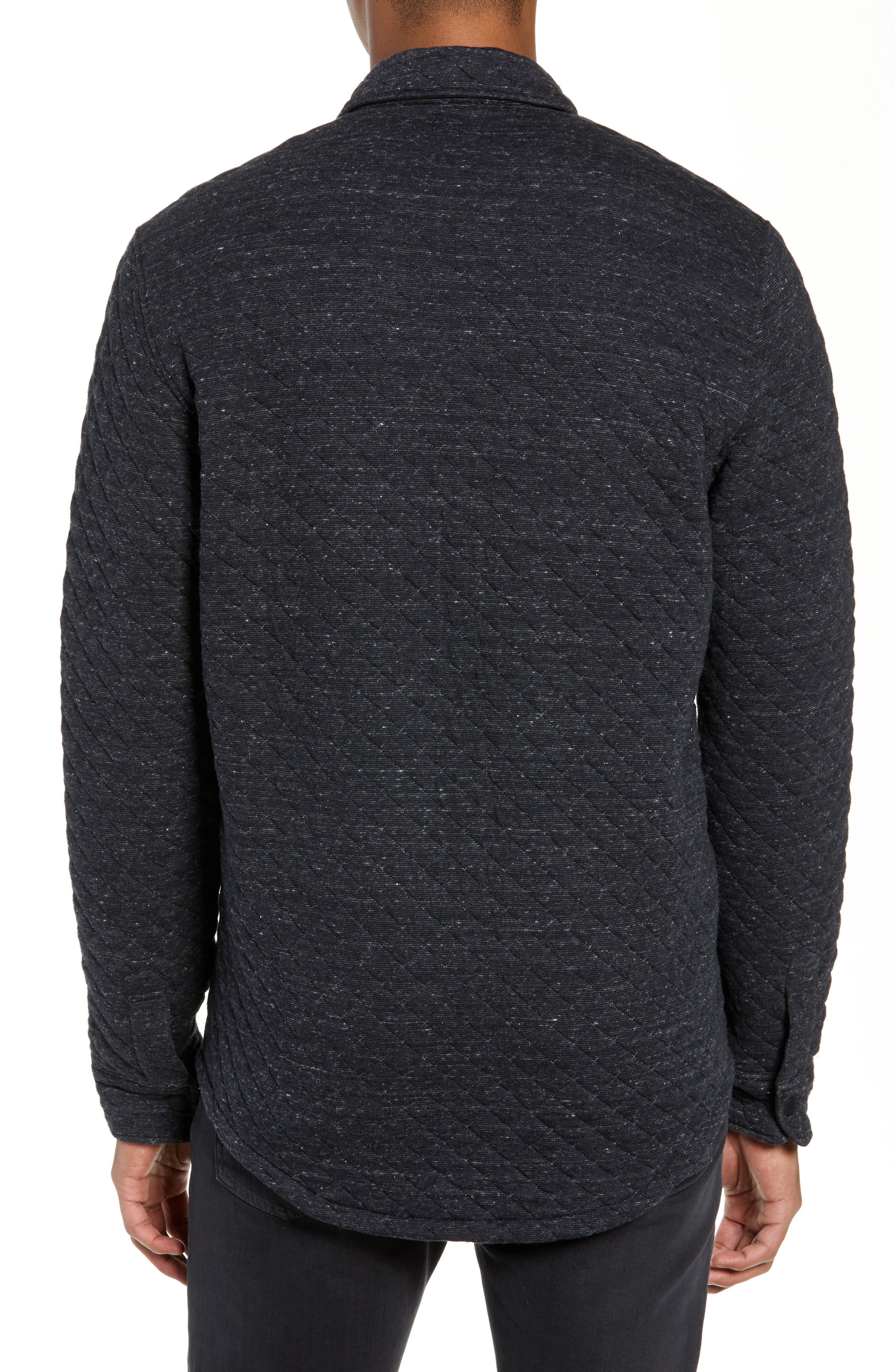 FAHERTY,                             Belmar Regular Fit Quilted Shirt Jacket,                             Alternate thumbnail 2, color,                             BLACK HEATHER