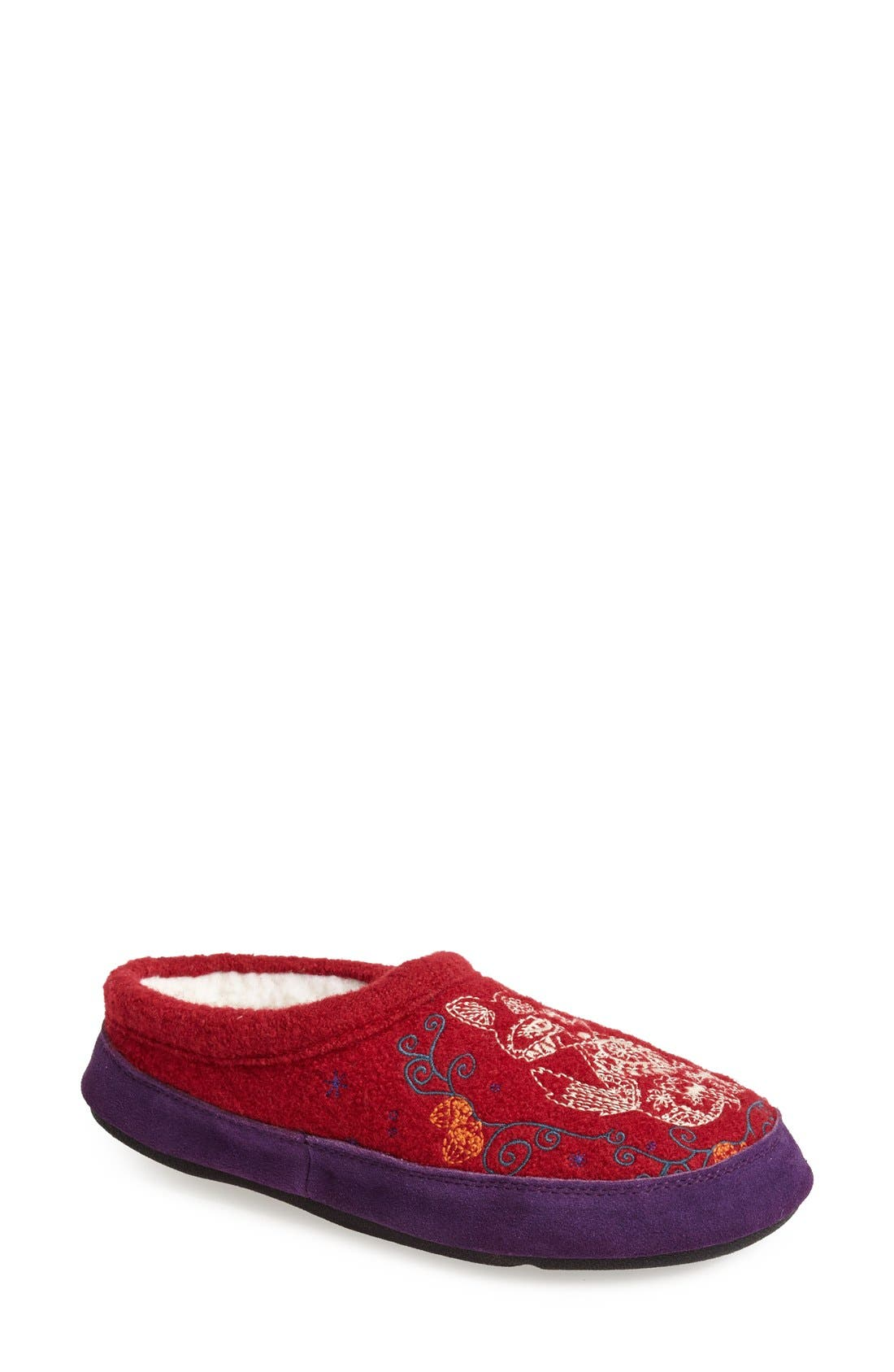 'Forest' Wool Mule Slipper,                             Main thumbnail 6, color,