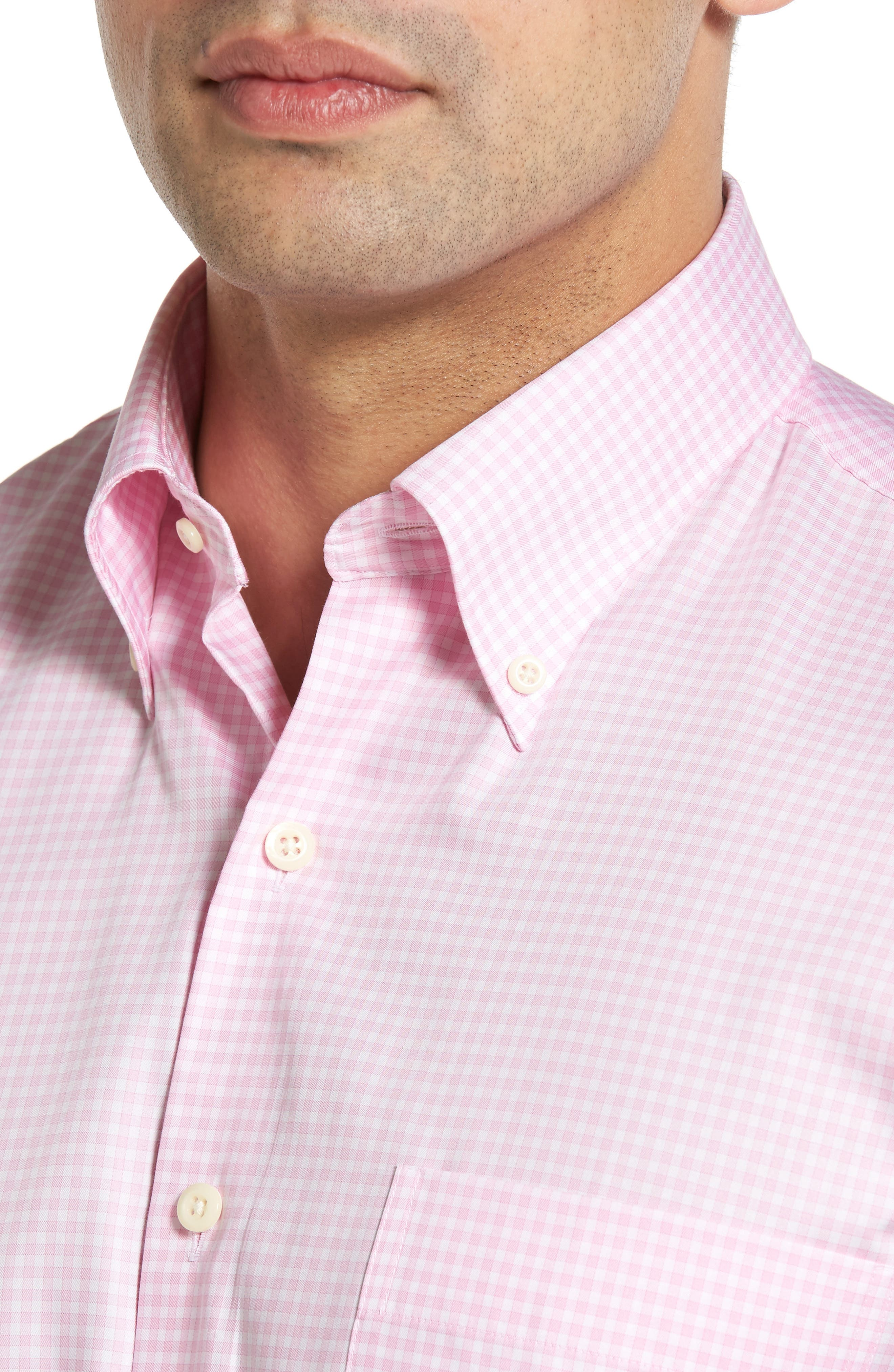 Crown Soft Gingham Regular Fit Sport Shirt,                             Alternate thumbnail 21, color,